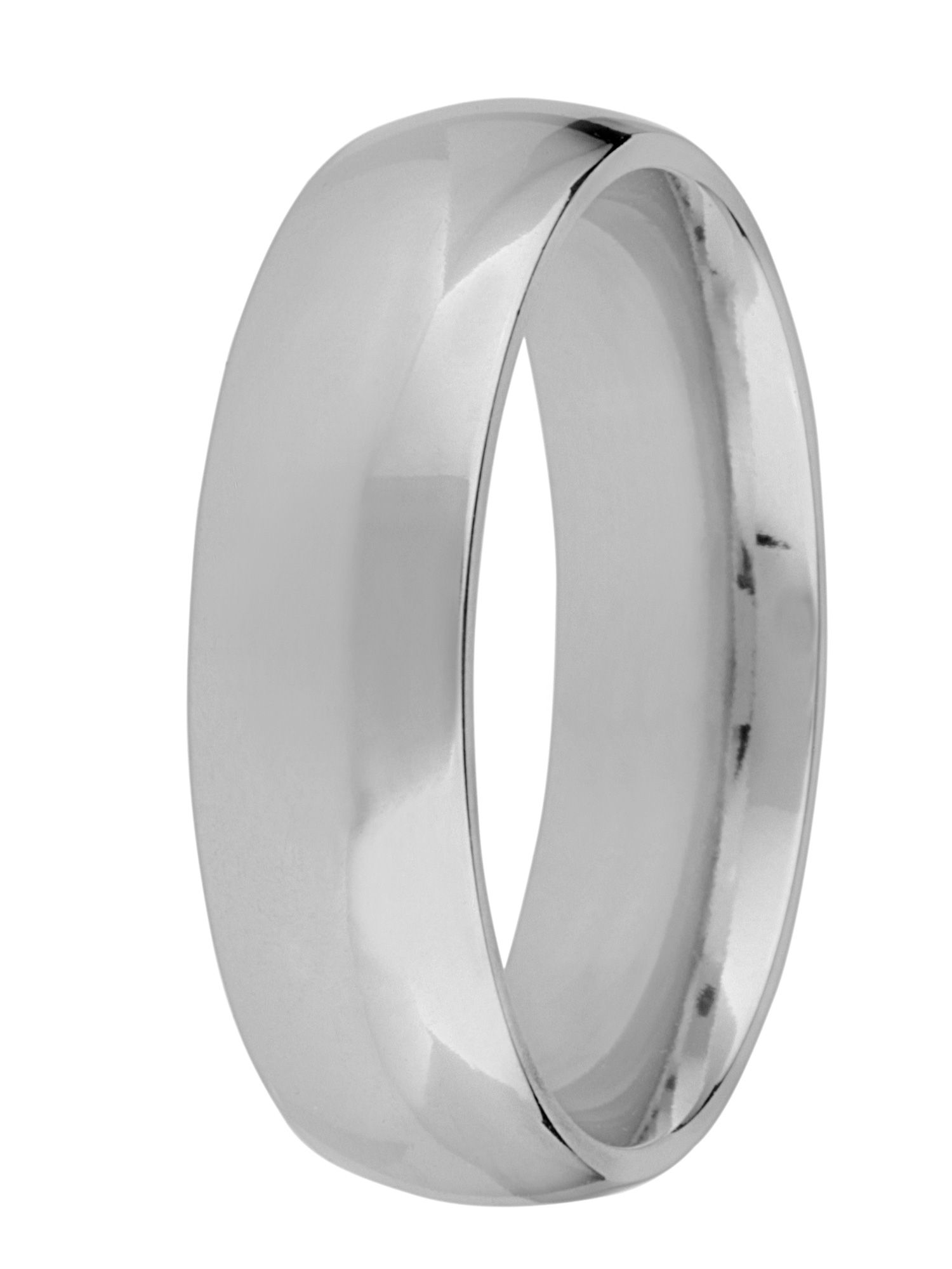 Grooms palladium heavy court 7mm wedding ring - Silver