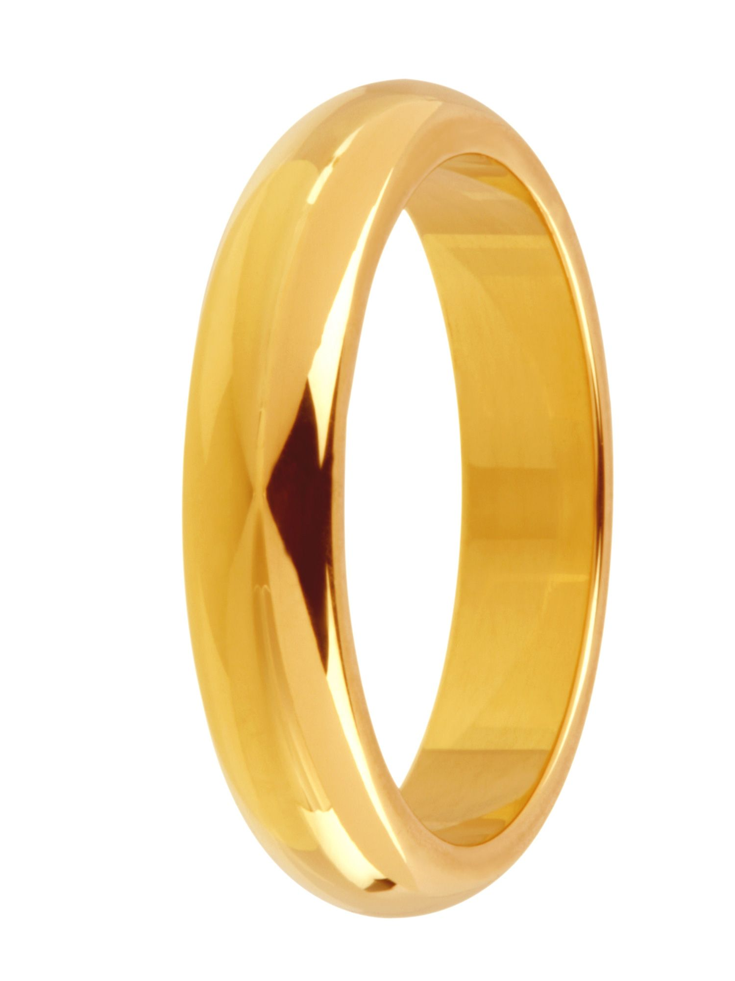 Grooms 18ct gold 4mm court wedding ring - Gold