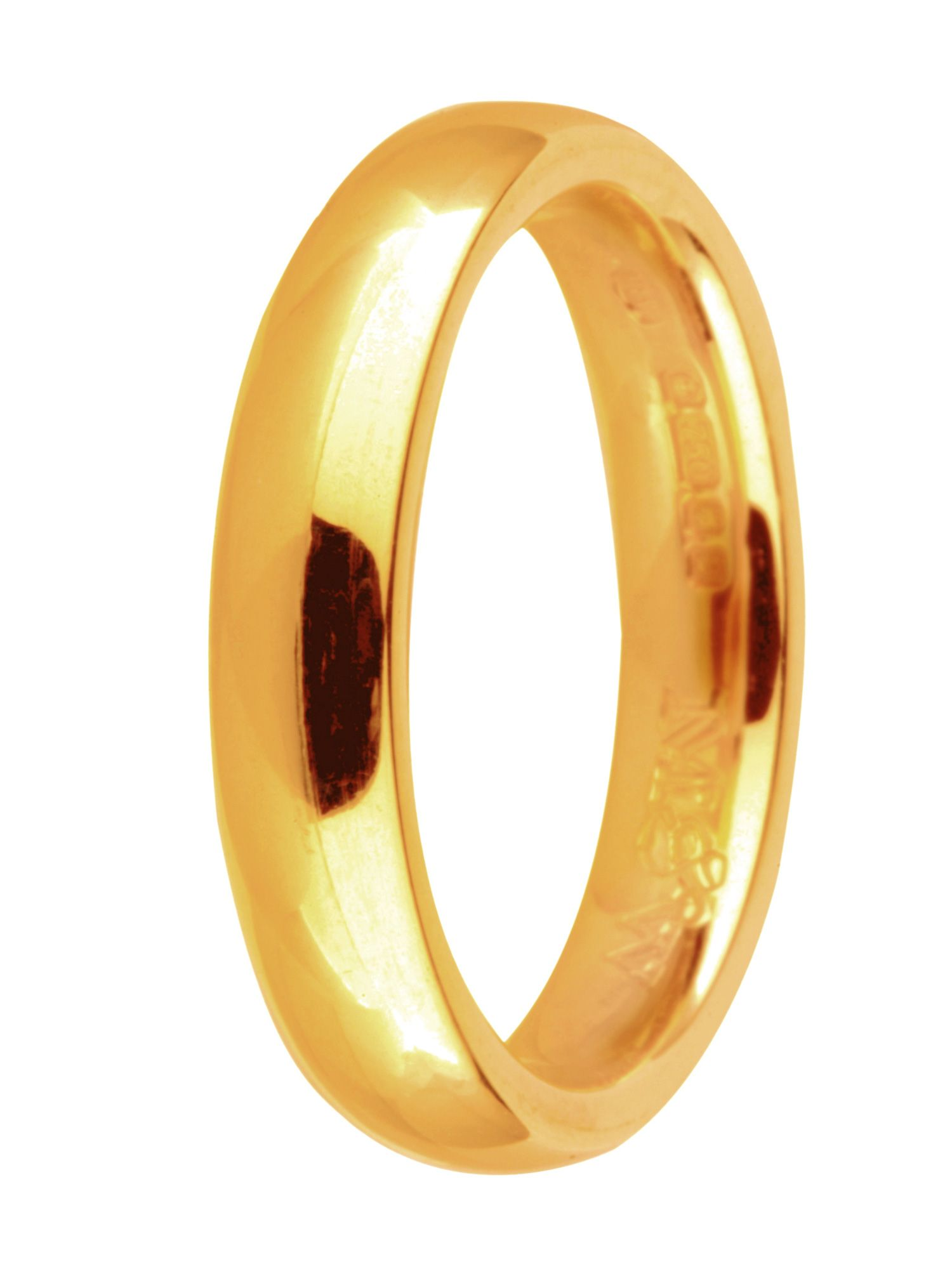 Goldsmiths Brides 18ct gold 5mm court wedding ring, Gold