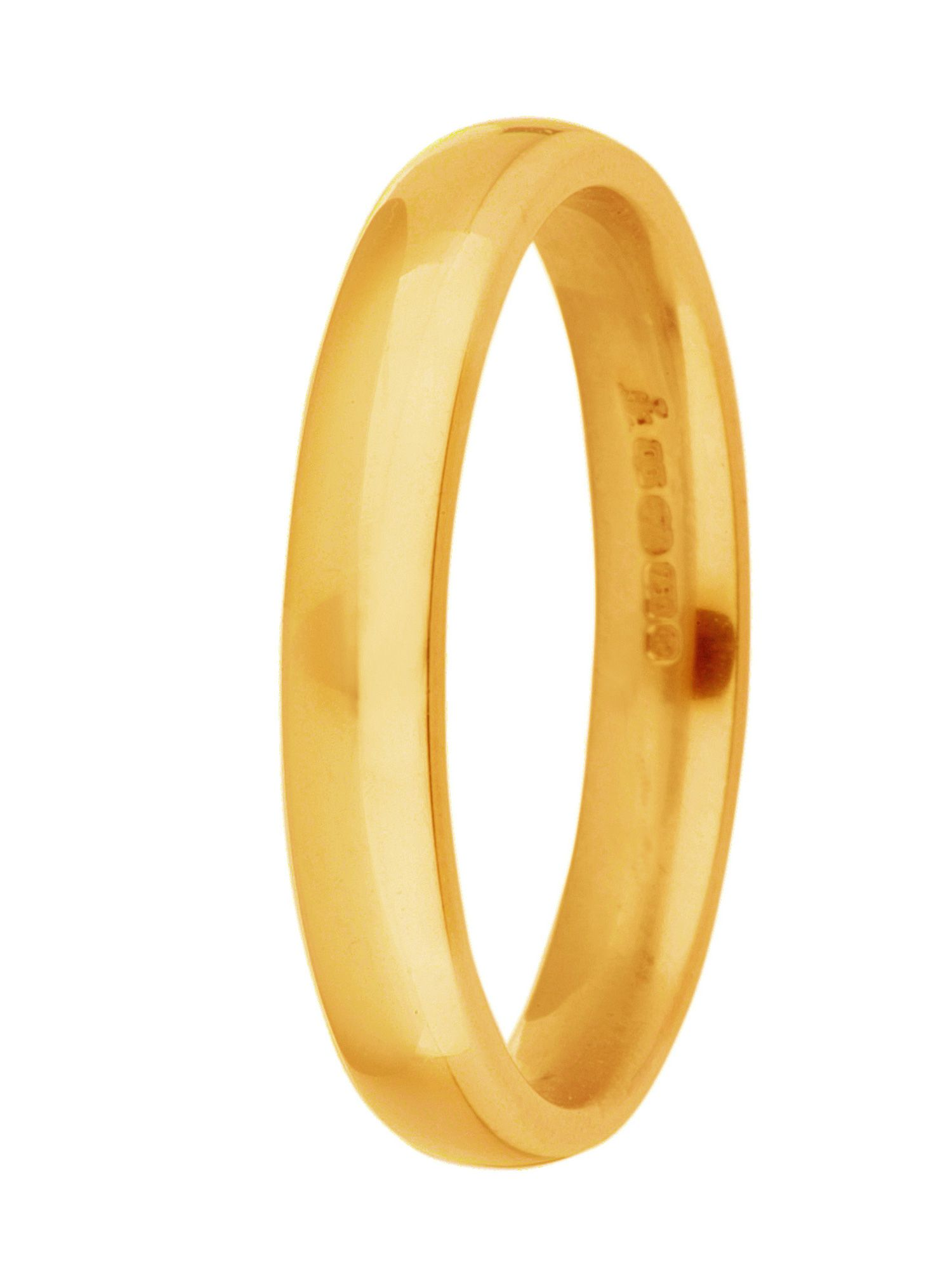 Grooms 18ct gold 5mm court wedding ring - Gold