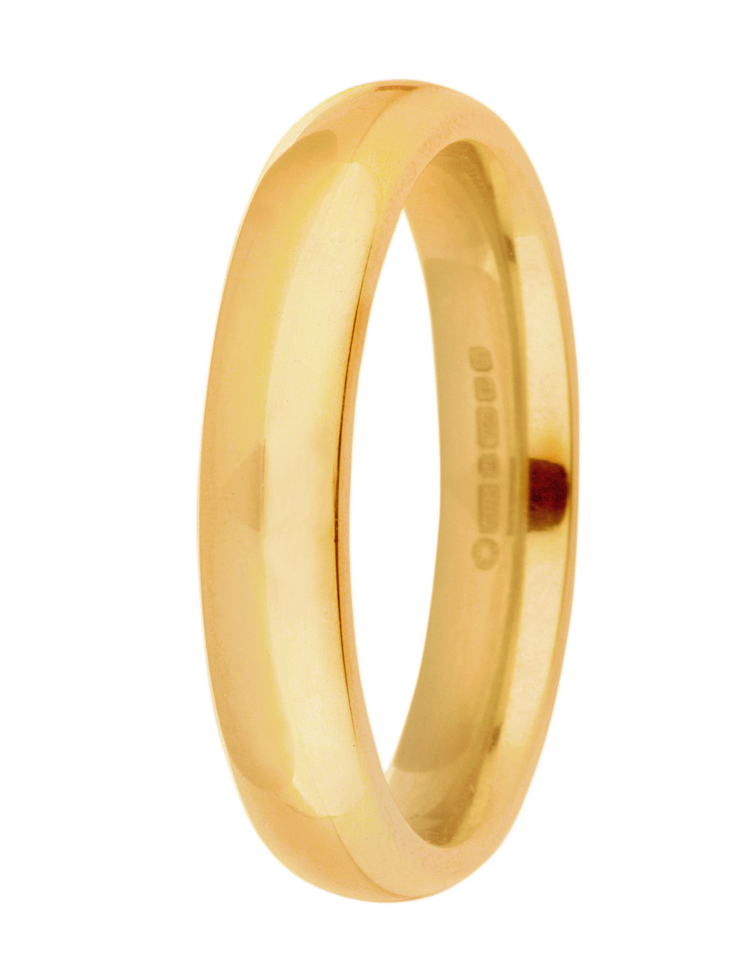 Brides 18ct gold 4mm court wedding ring - Gold