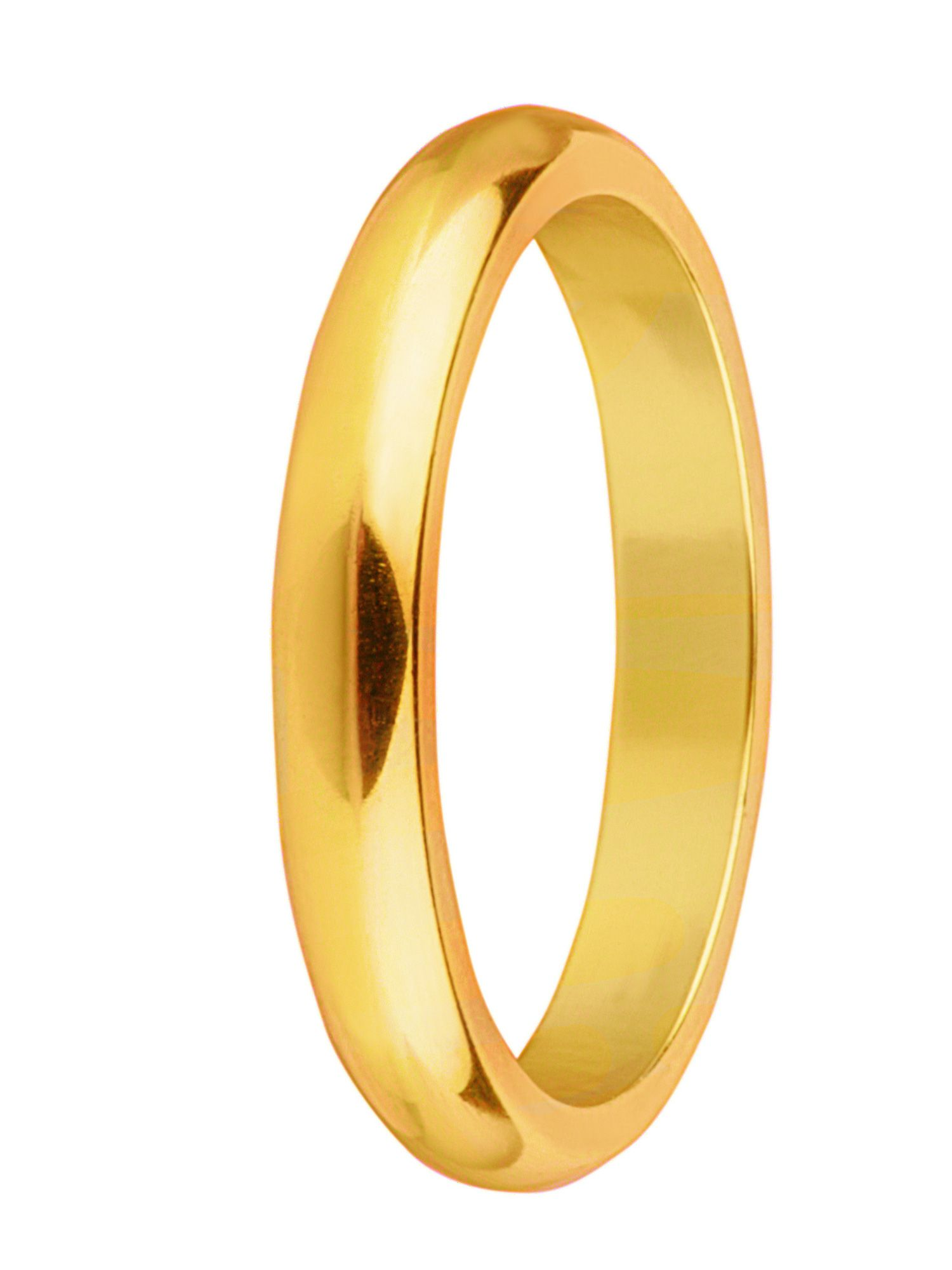Goldsmiths Brides 18ct gold heavy court 3mm wedding ring, Gold