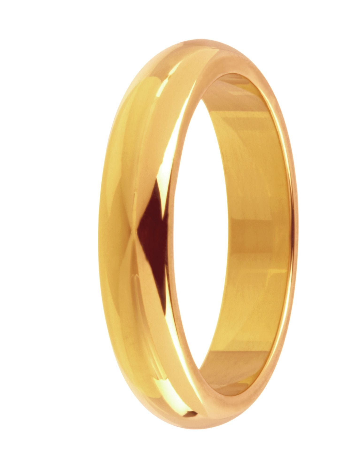 Brides 18ct gold heavy court 4mm wedding ring - Gold