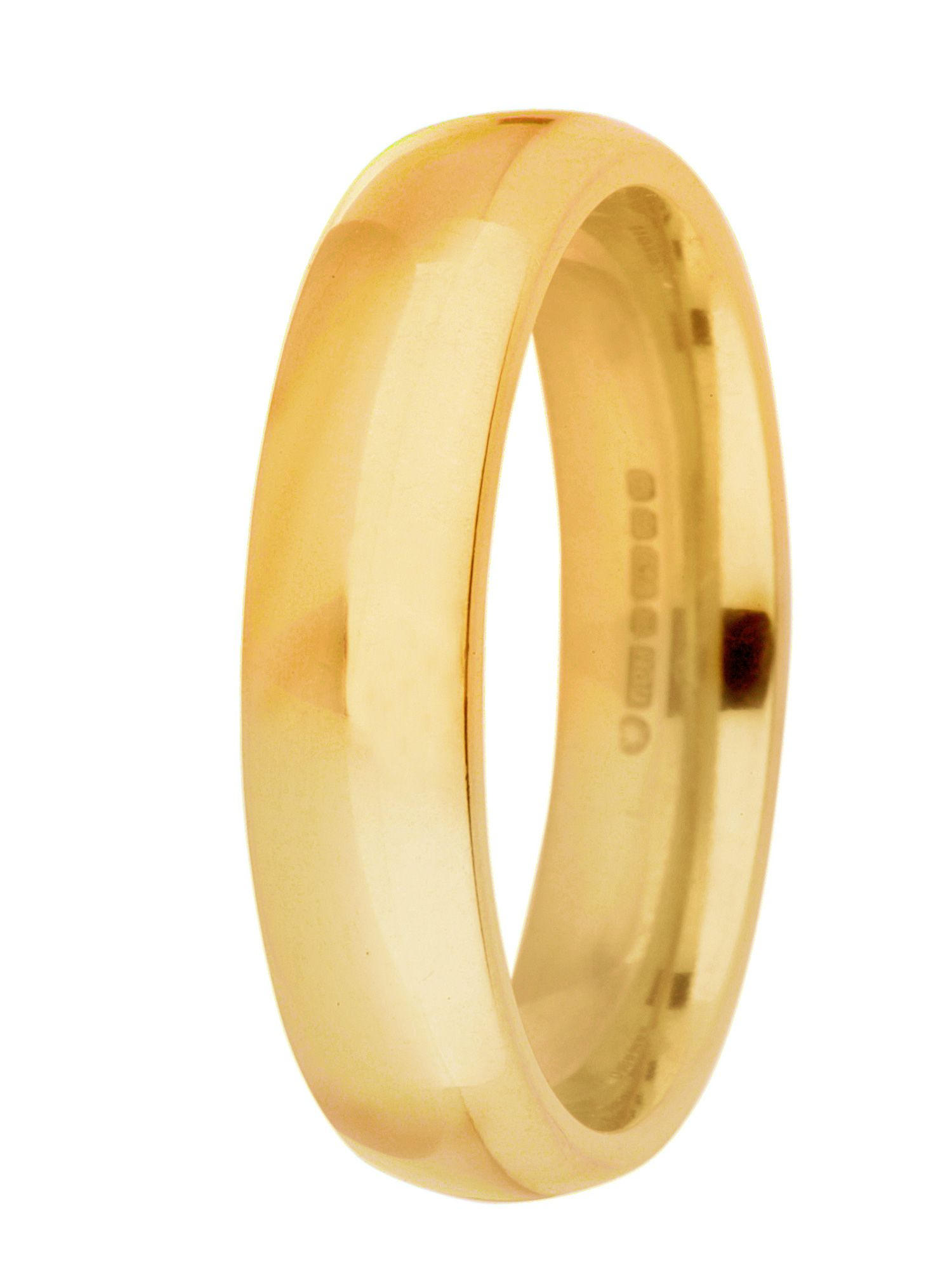 Grooms 18ct gold heavy court 5mm wedding ring - Gold