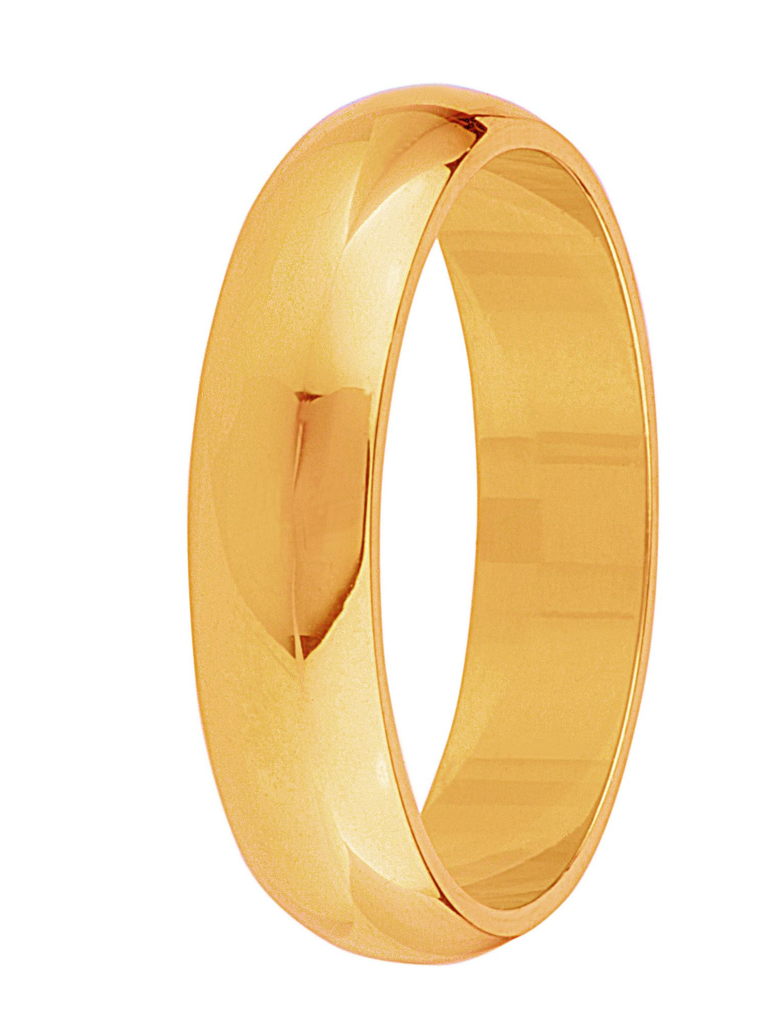 Grooms 18ct gold heavy court 6mm wedding ring - Gold