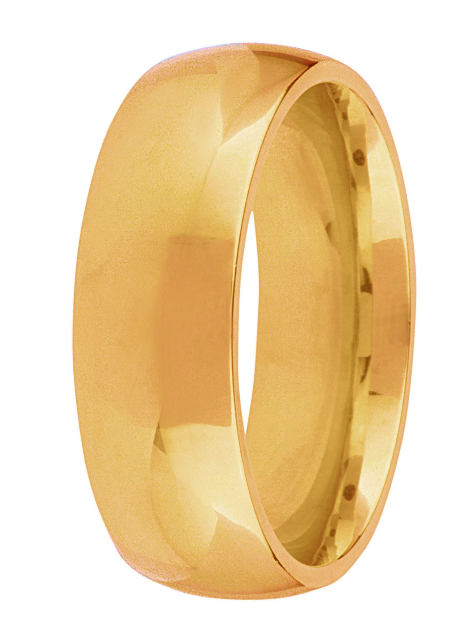 Goldsmiths Grooms 18ct gold heavy court 7mm wedding ring