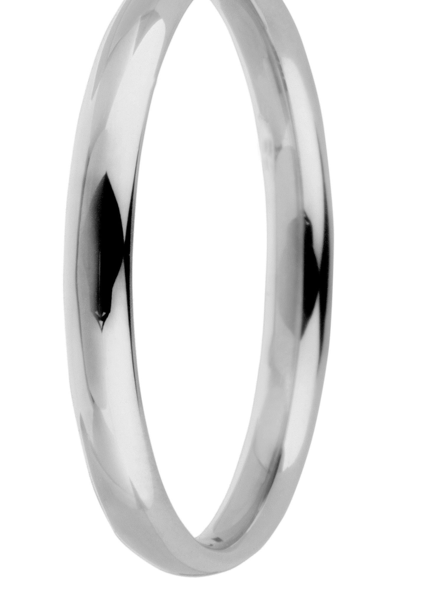 Brides 18ct gold 2mm court wedding ring - White Gold