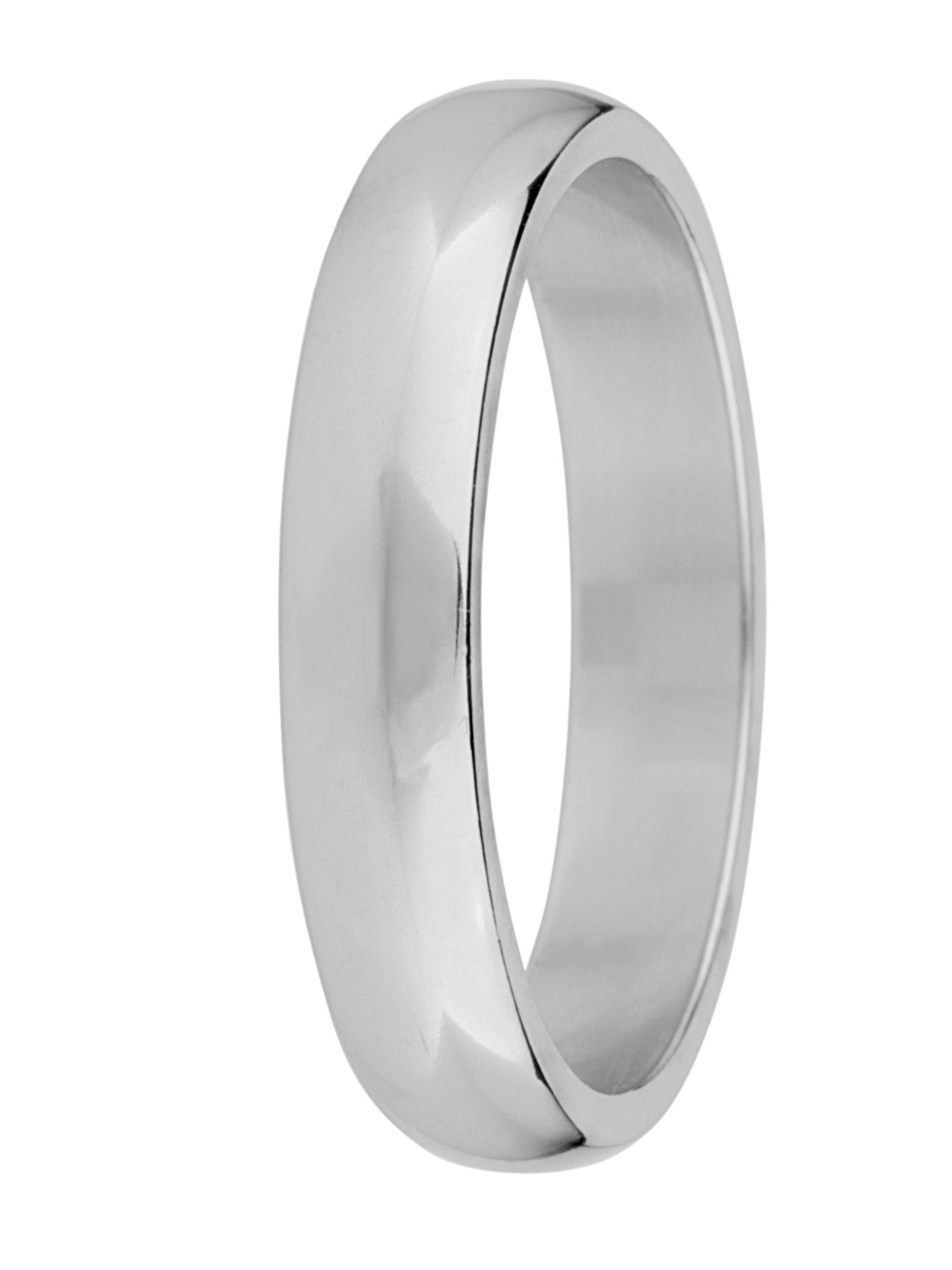 Brides 18ct gold 4mm court wedding ring - White Gold