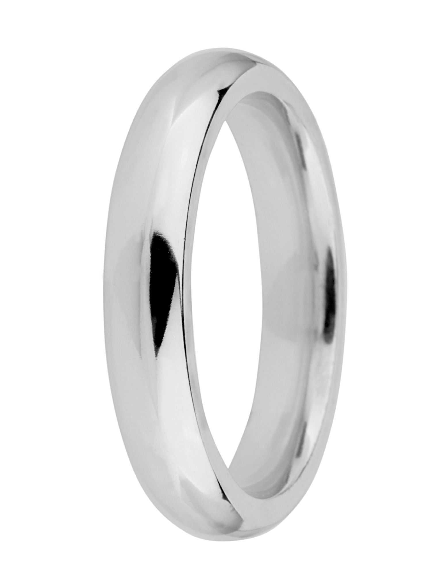 Grooms 18ct gold 4mm court wedding ring - White Gold