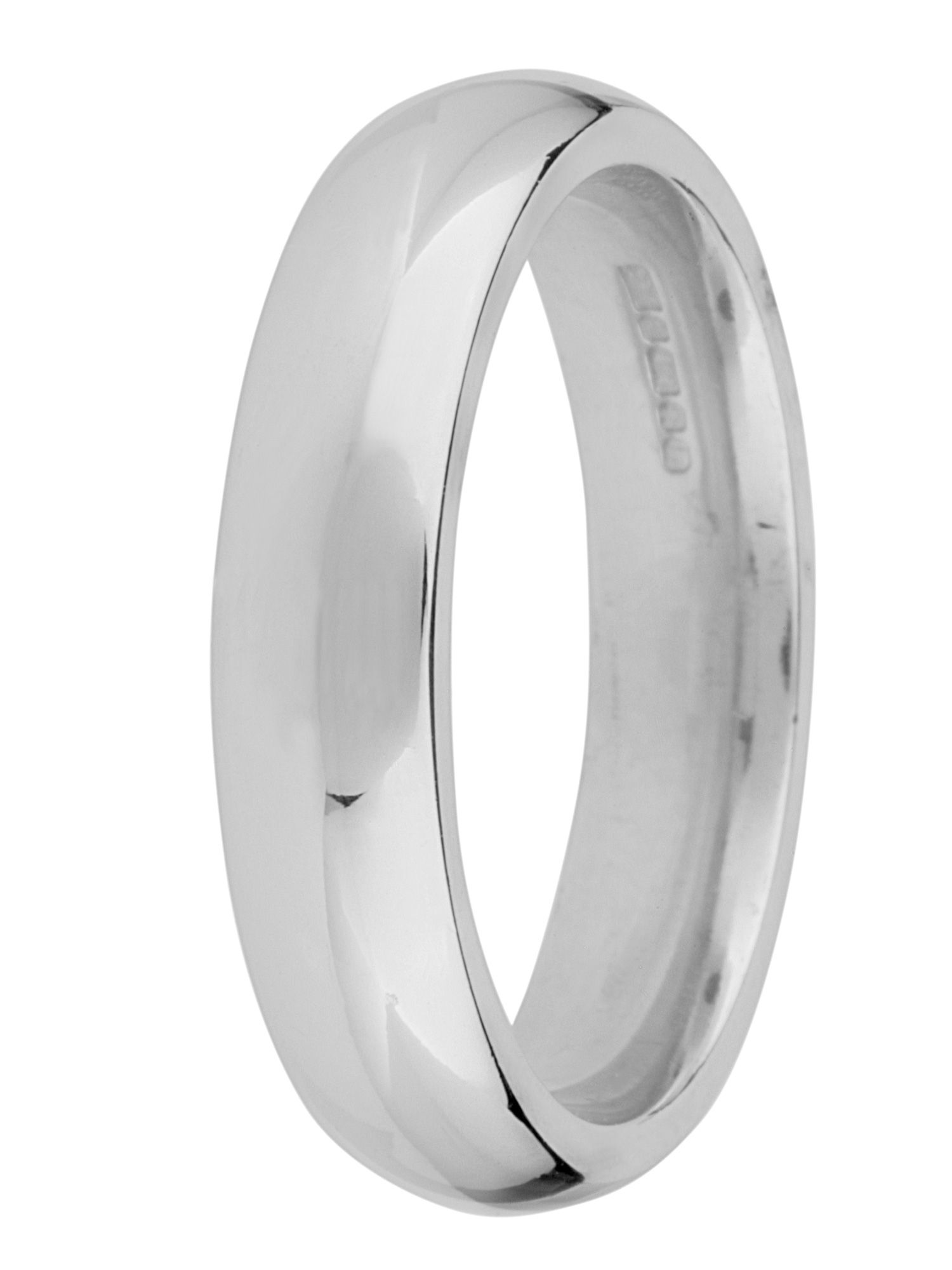 Goldsmiths Brides 18ct gold 5mm court wedding ring, White Gold