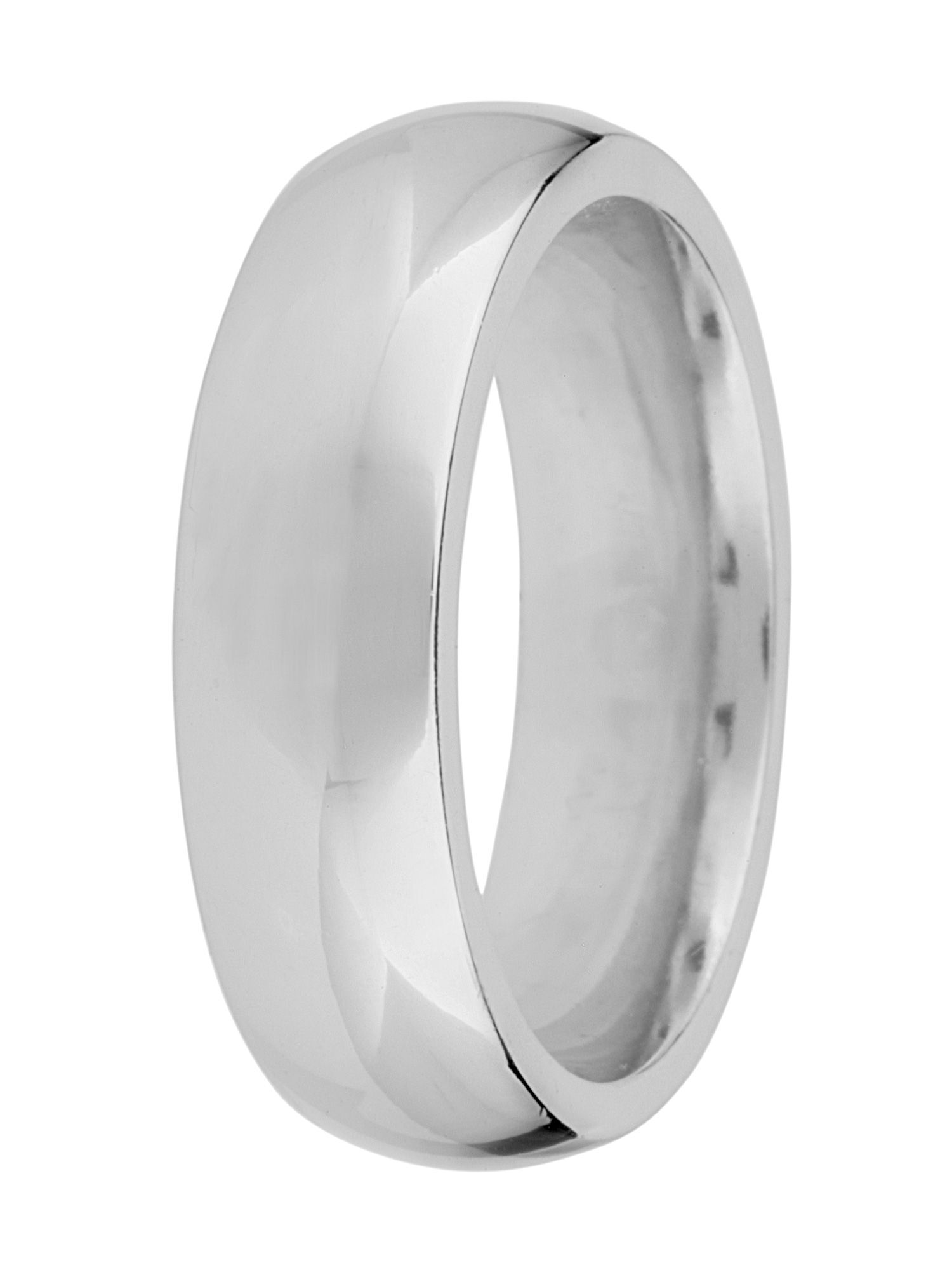 Grooms 18ct gold 6mm court wedding ring - White Gold