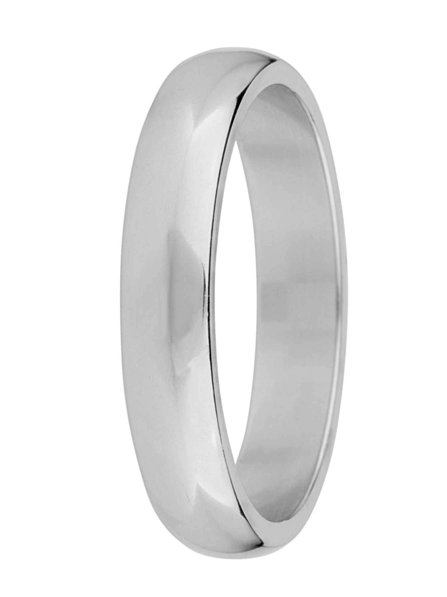 Brides 18ct gold heavy court 4mm wedding ring - White Gold