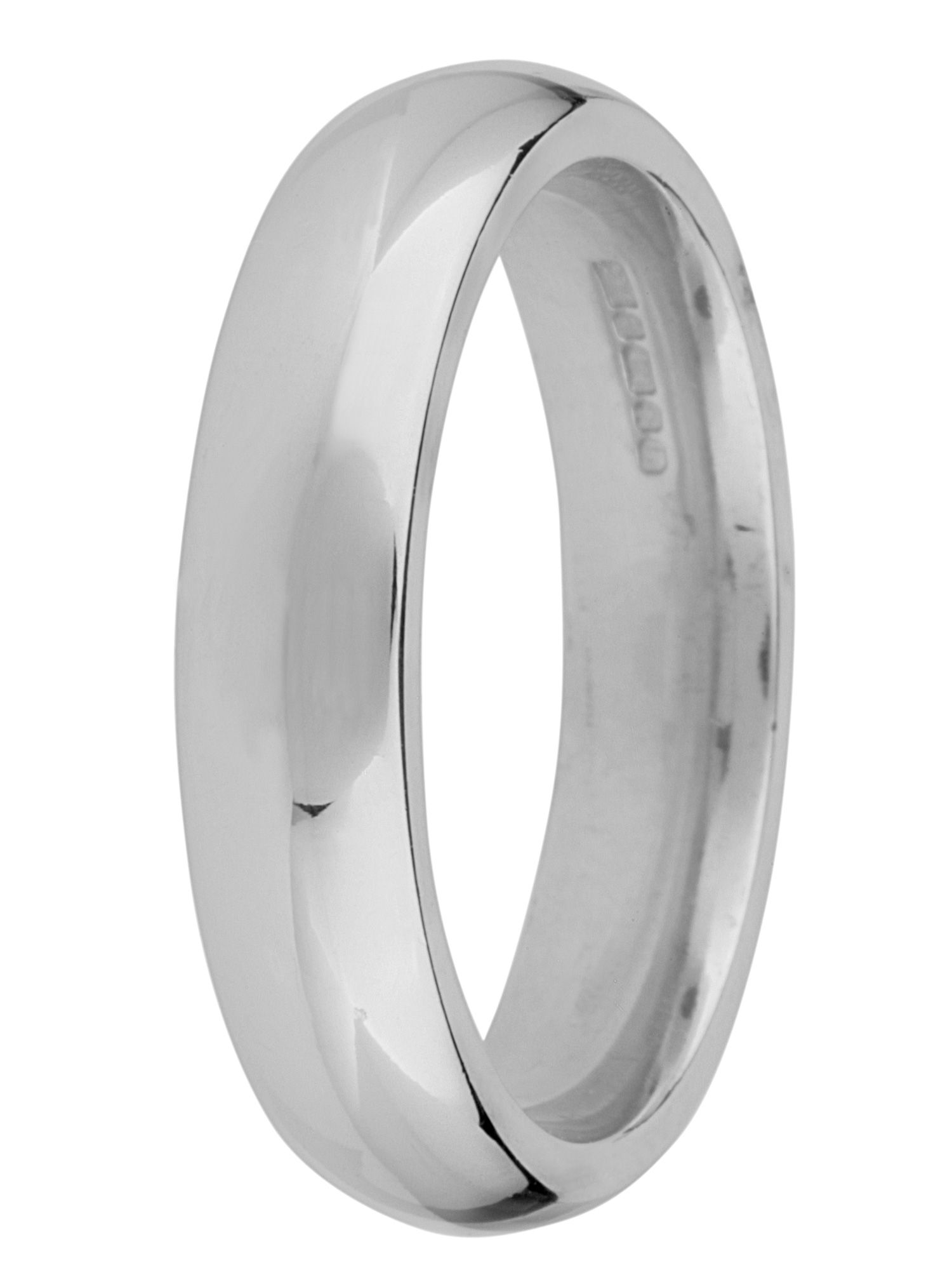 Brides 18ct gold heavy court 5mm wedding ring - White Gold