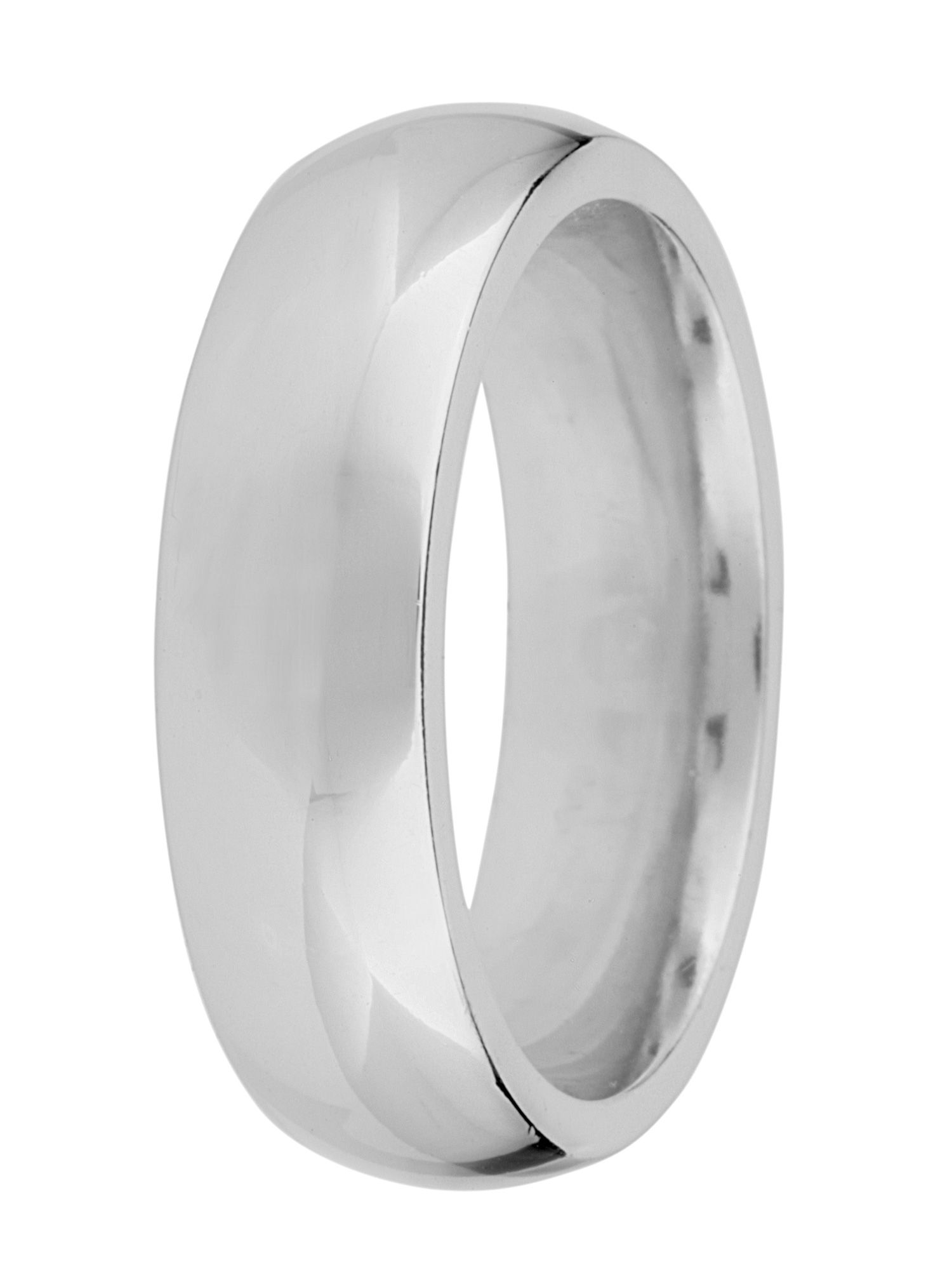 Grooms 18ct gold heavy court 6mm wedding ring - White Gold