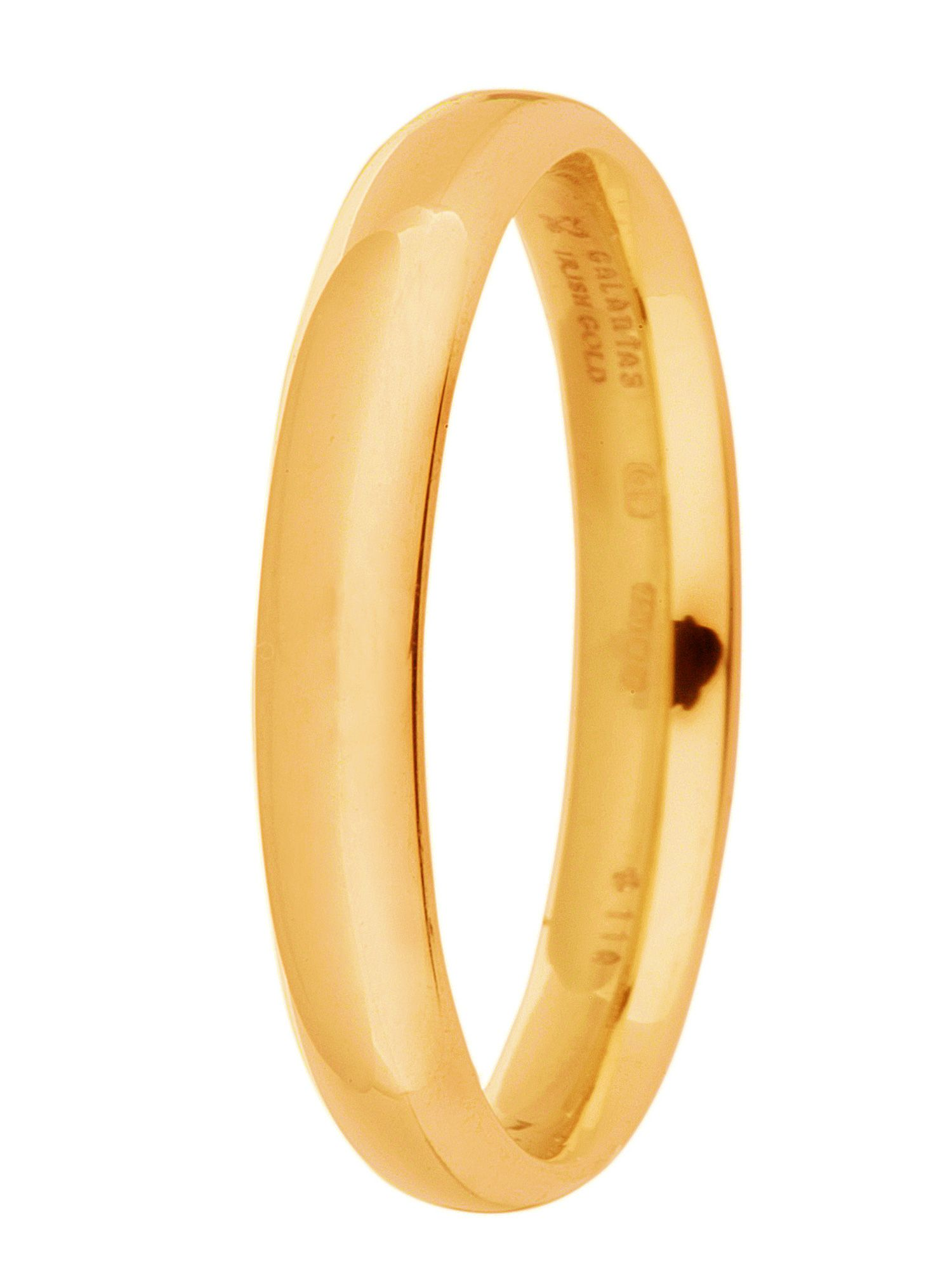 Brides 9ct gold 3mm court wedding ring - Gold
