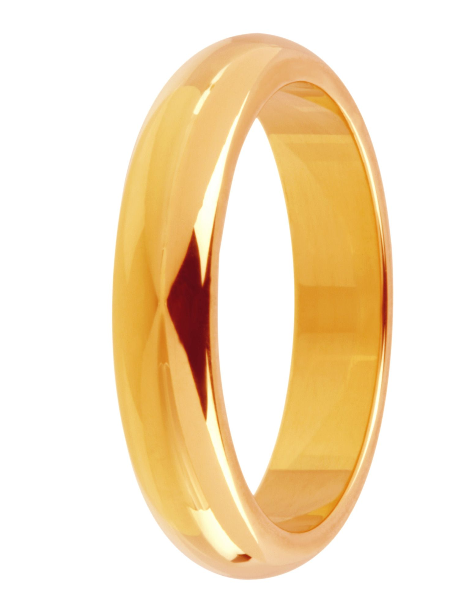 Brides 9ct gold 4mm court wedding ring - Gold