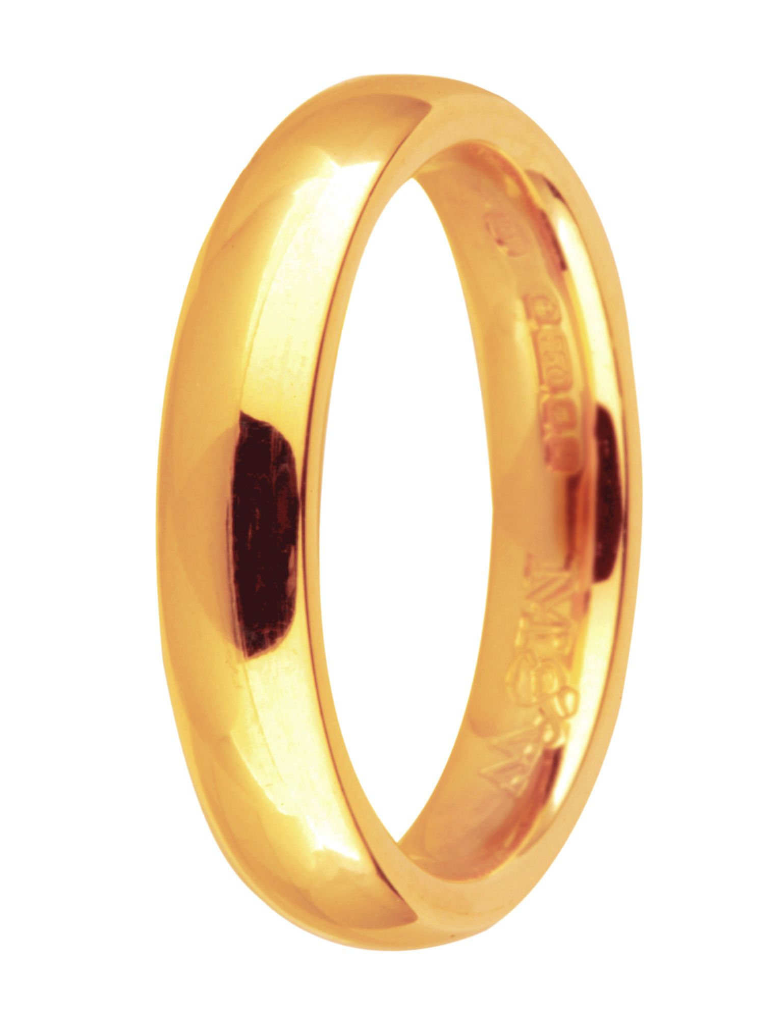 Brides 9ct gold 5mm court wedding ring - Gold