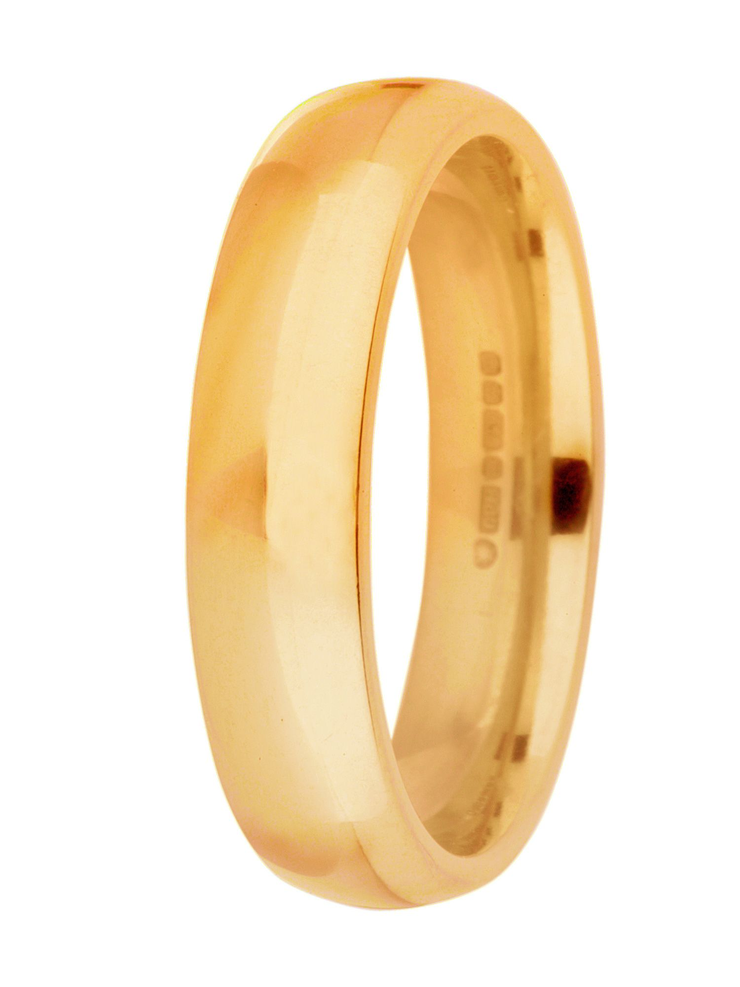 Grooms 9ct gold 5mm court wedding ring - Gold