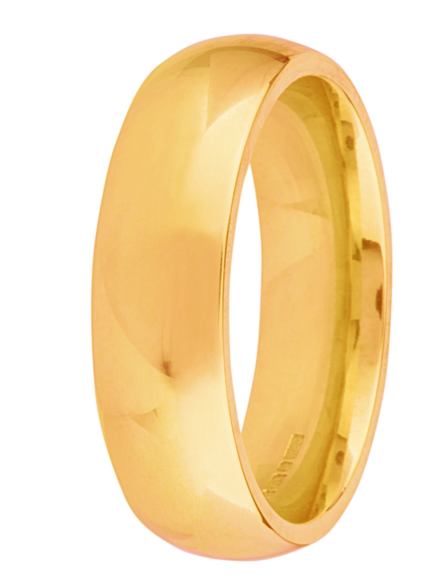 Grooms 9ct gold 6mm court wedding ring - Gold