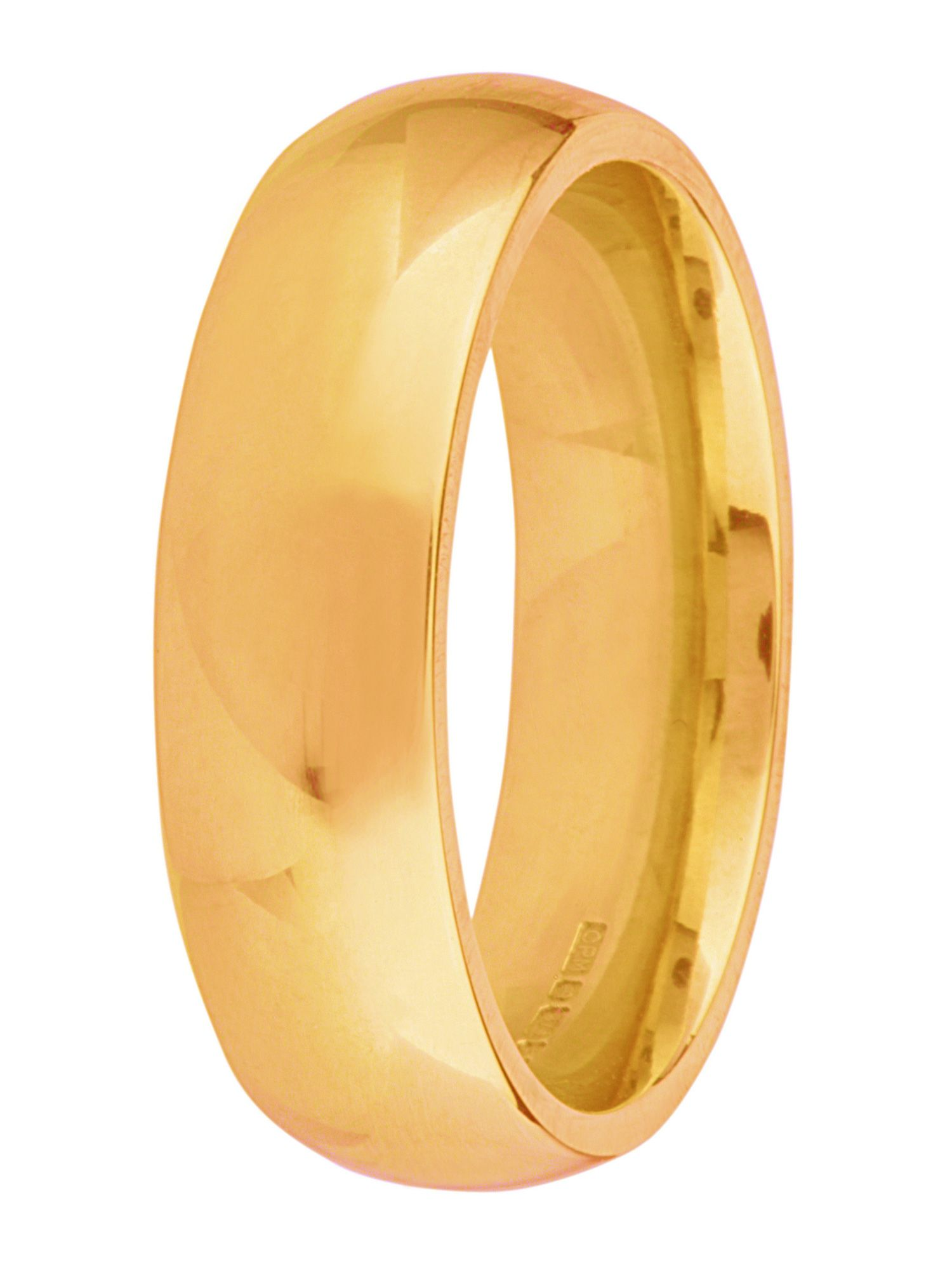 Grooms 9ct gold 7mm court wedding ring - Gold