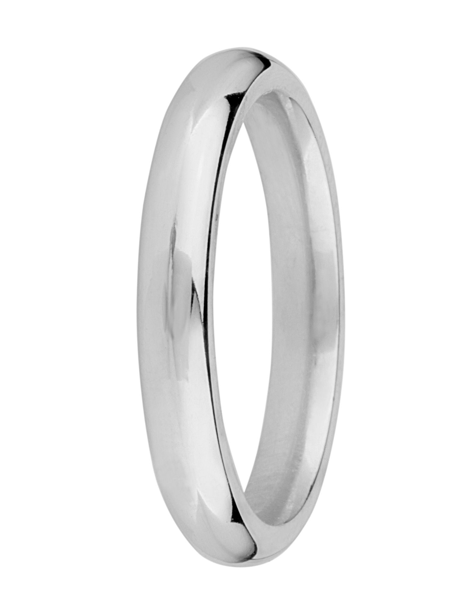 Brides 9ct gold 3mm court wedding ring - White Gold