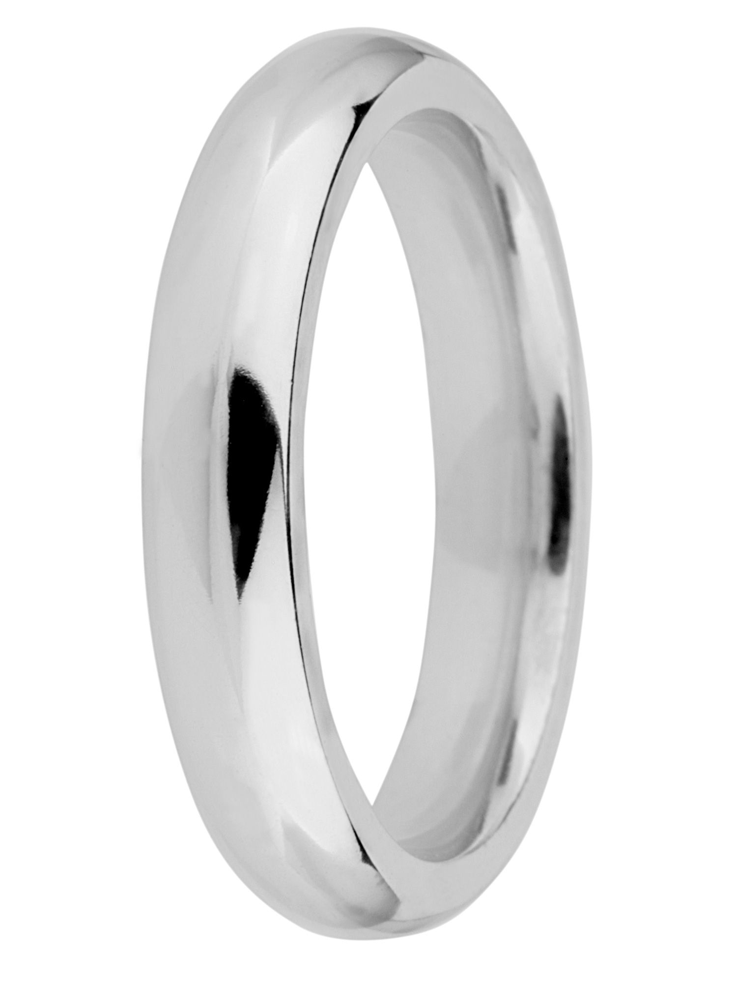 Brides 9ct gold 4mm court wedding ring - White Gold