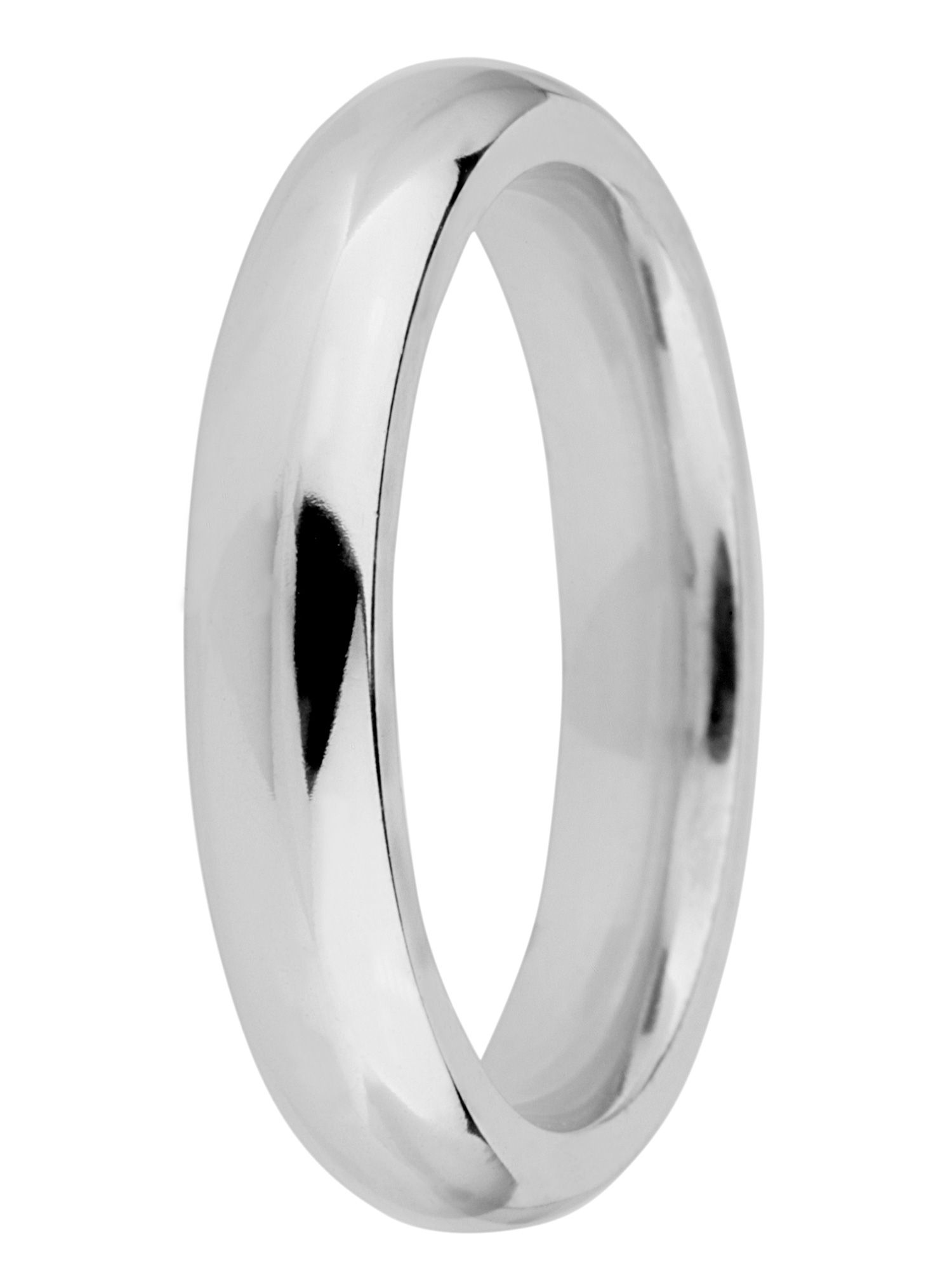 Grooms 9ct gold 4mm court wedding ring - White Gold