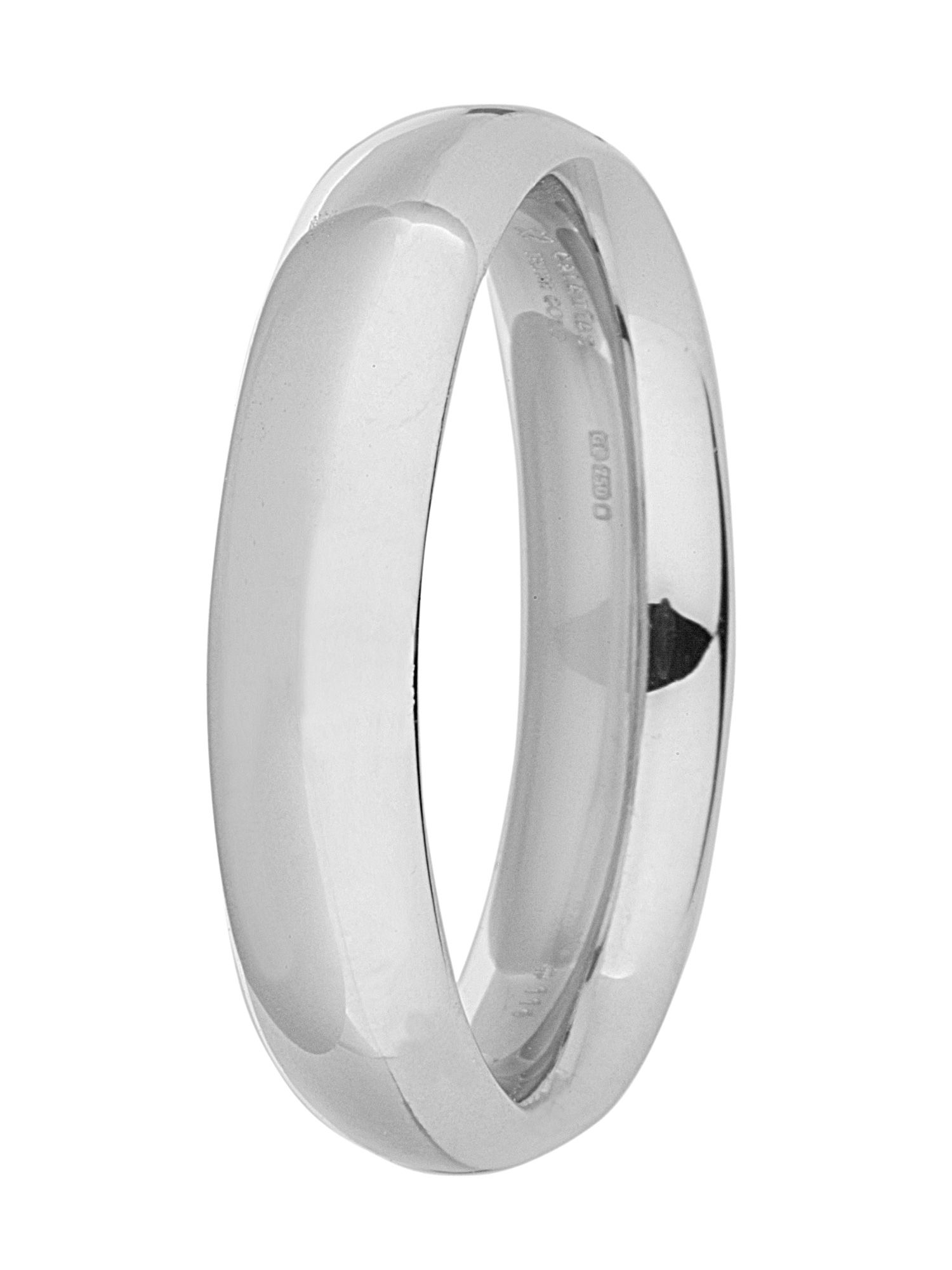 Brides 9ct gold 5mm court wedding ring - White Gold