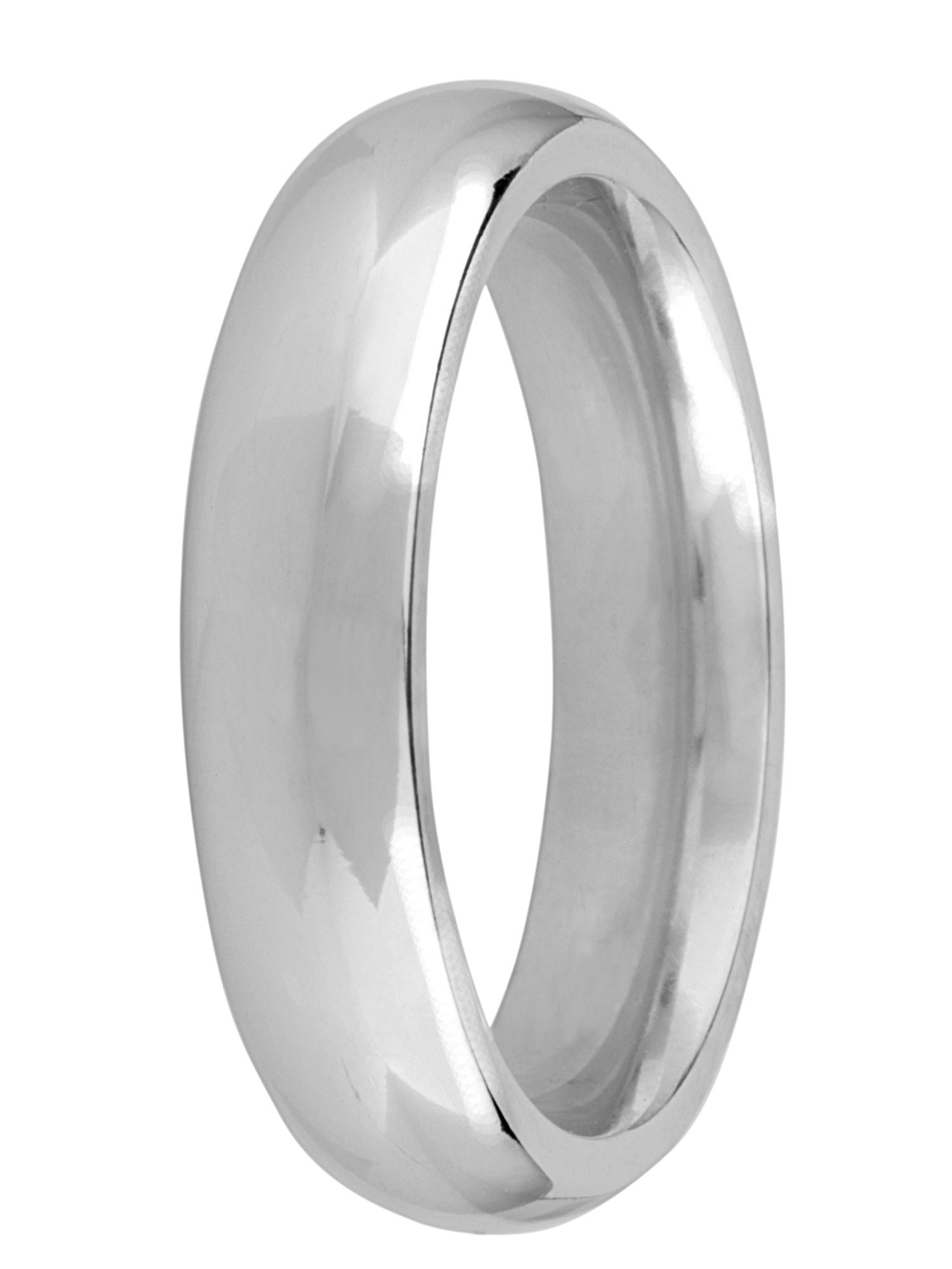 Grooms 9ct gold 5mm court wedding ring - White Gold