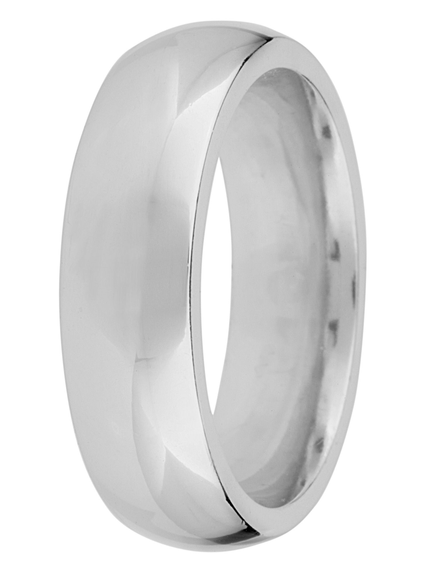 Grooms 9ct gold 6mm court wedding ring - White Gold