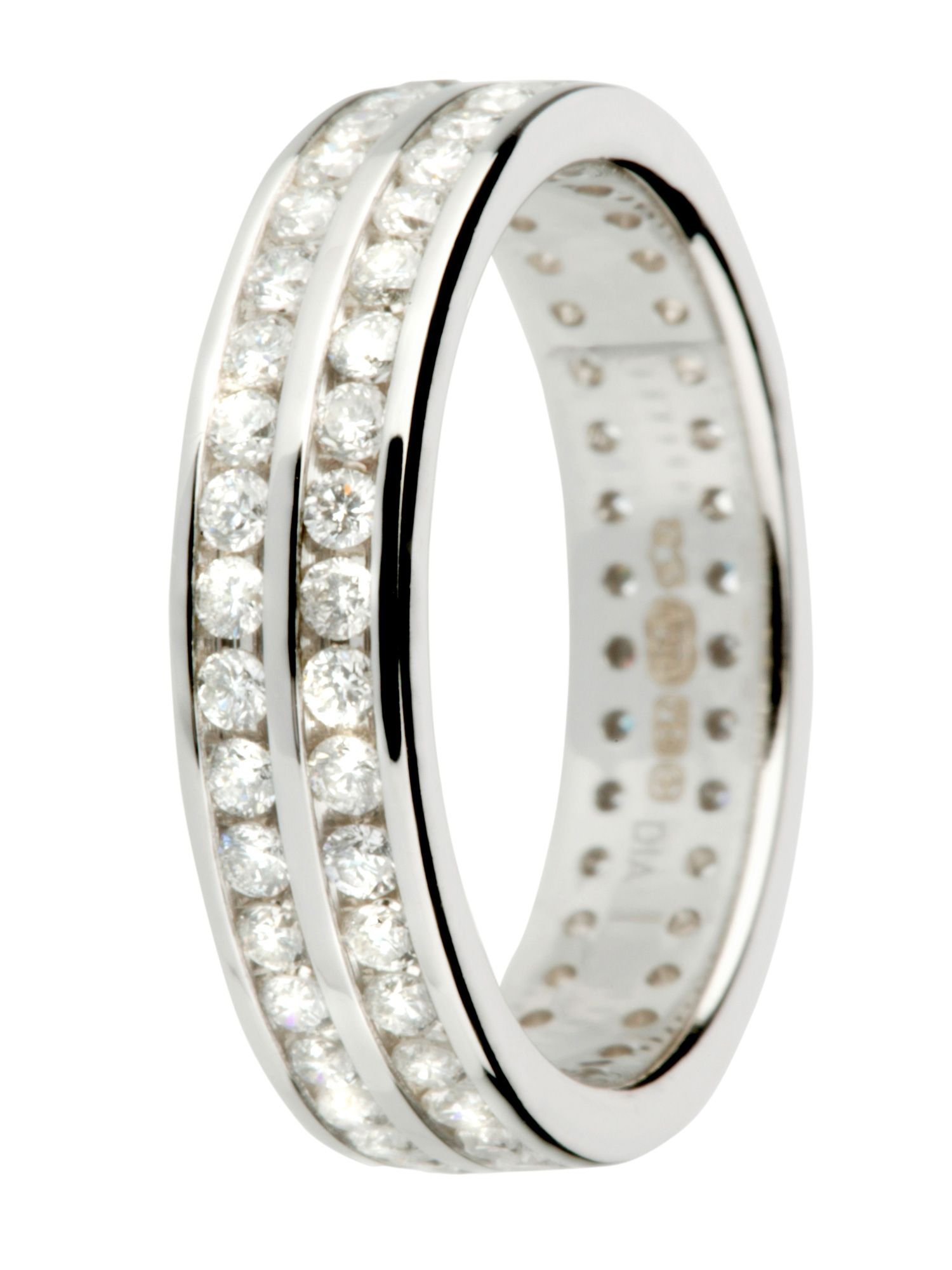 Ladies 18ct gold 1.00ct diamond eternity ring - White Gold