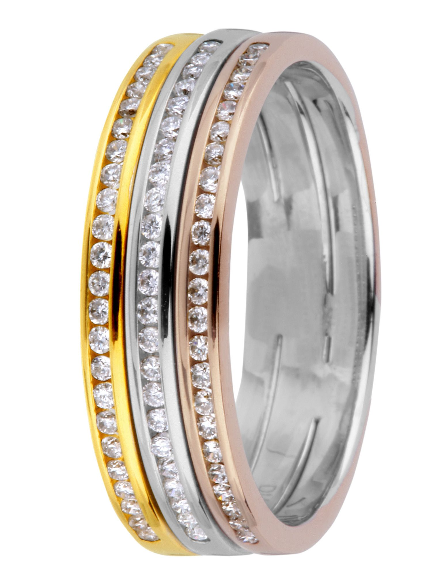 Brides 18ct gold 0.50ct diamond wedding ring - Multi-Coloured