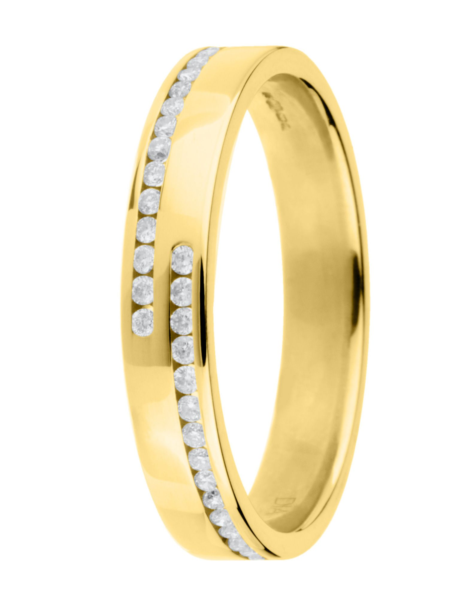 Goldsmiths Brides 18ct gold 0.15ct polished wedding ring, Gold