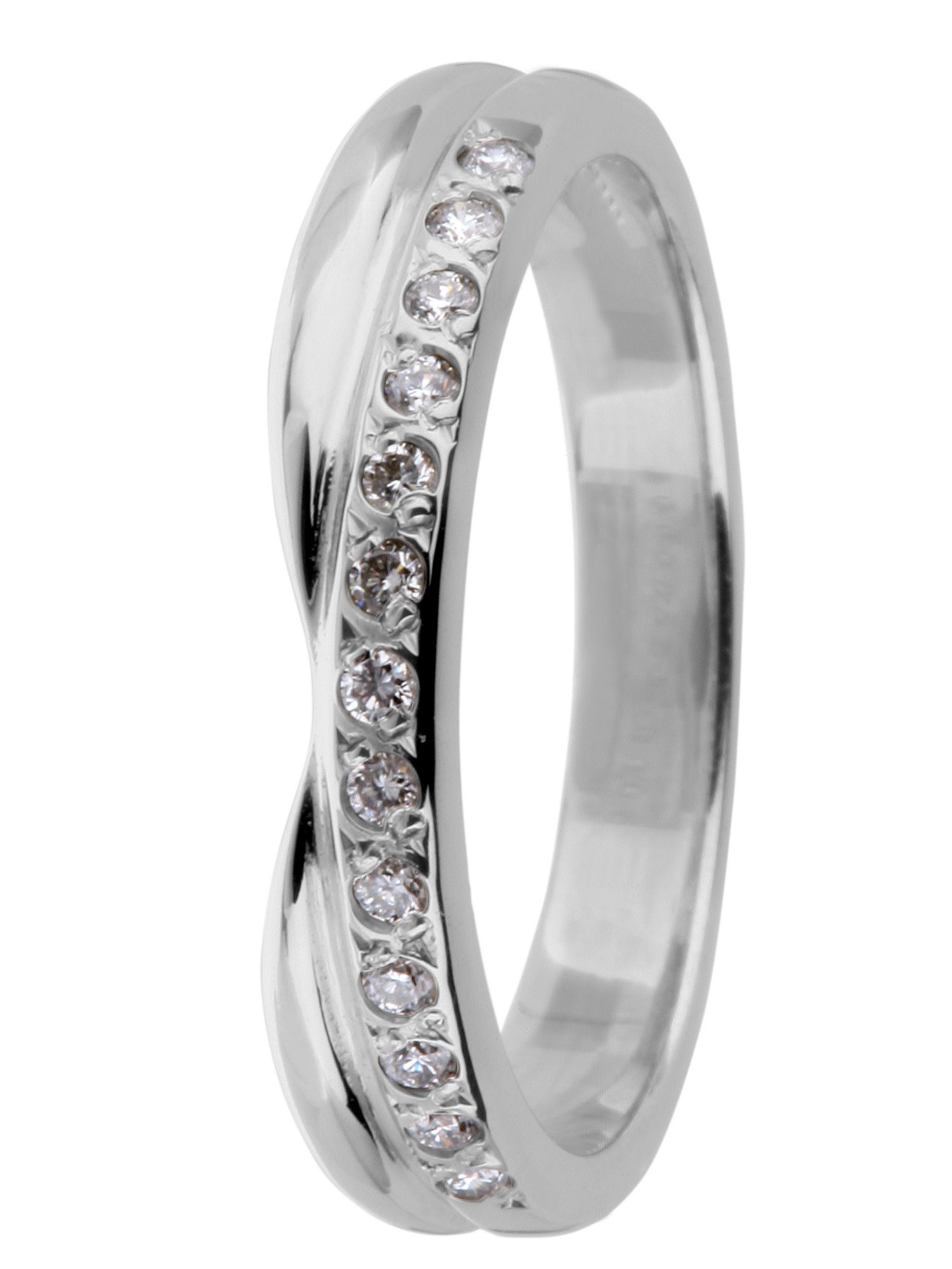 Brides 18ct gold 015ct diamond wedding ring White Gold House of