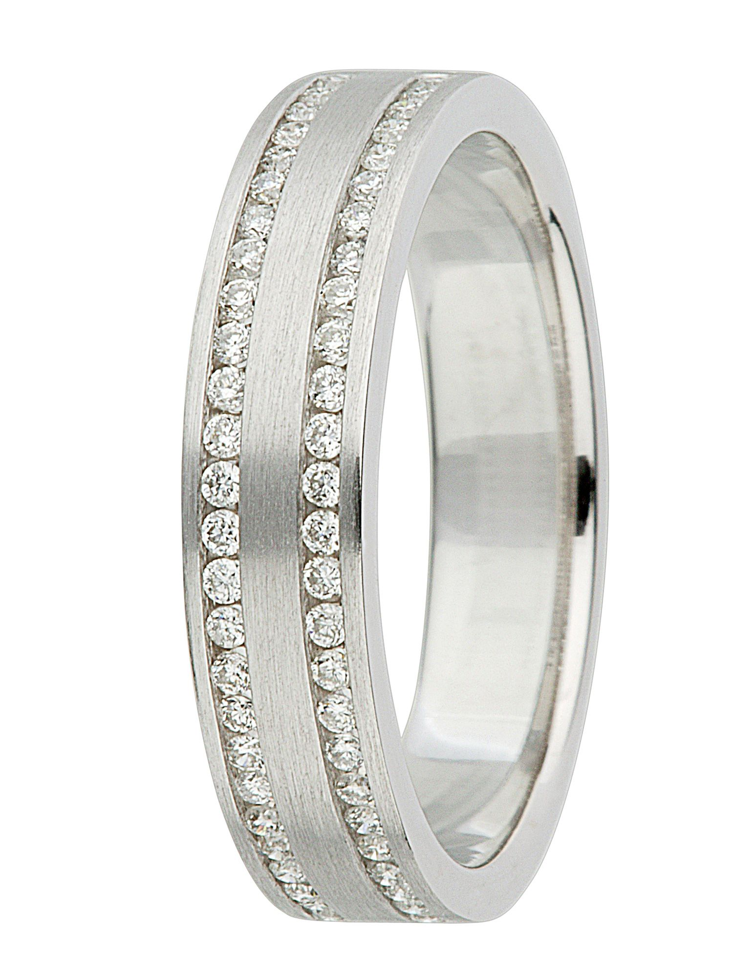 Ladies 18ct gold diamond wedding band - White Gold