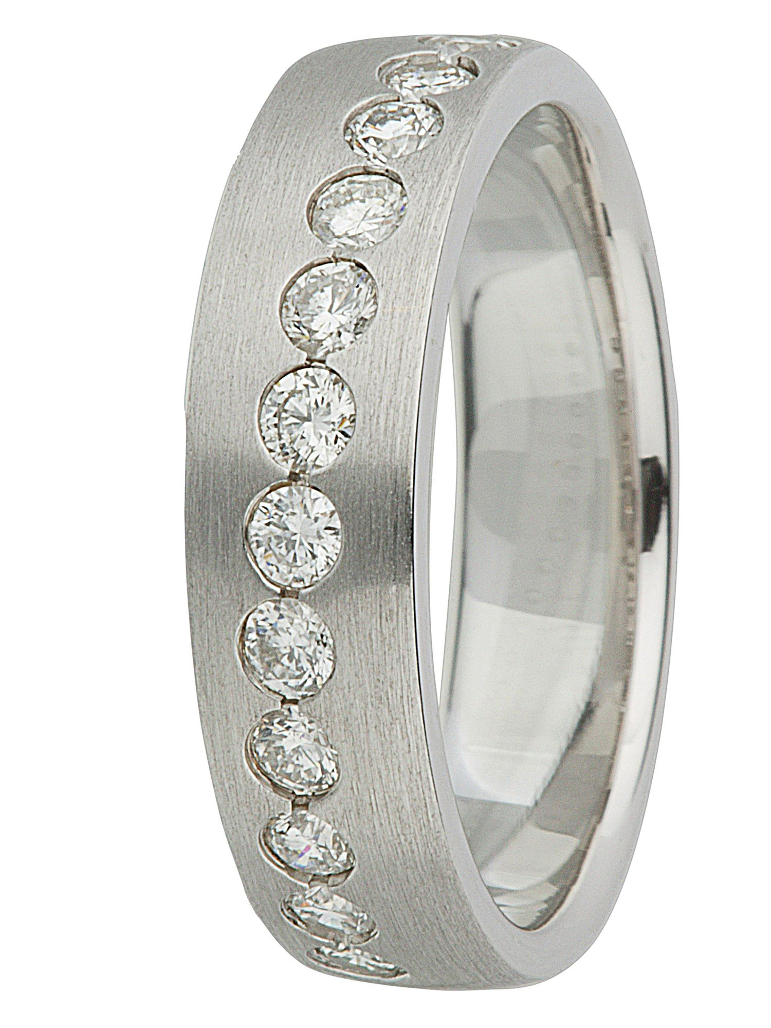 Ladies 18ct gold diamond set wedding band - White Gold