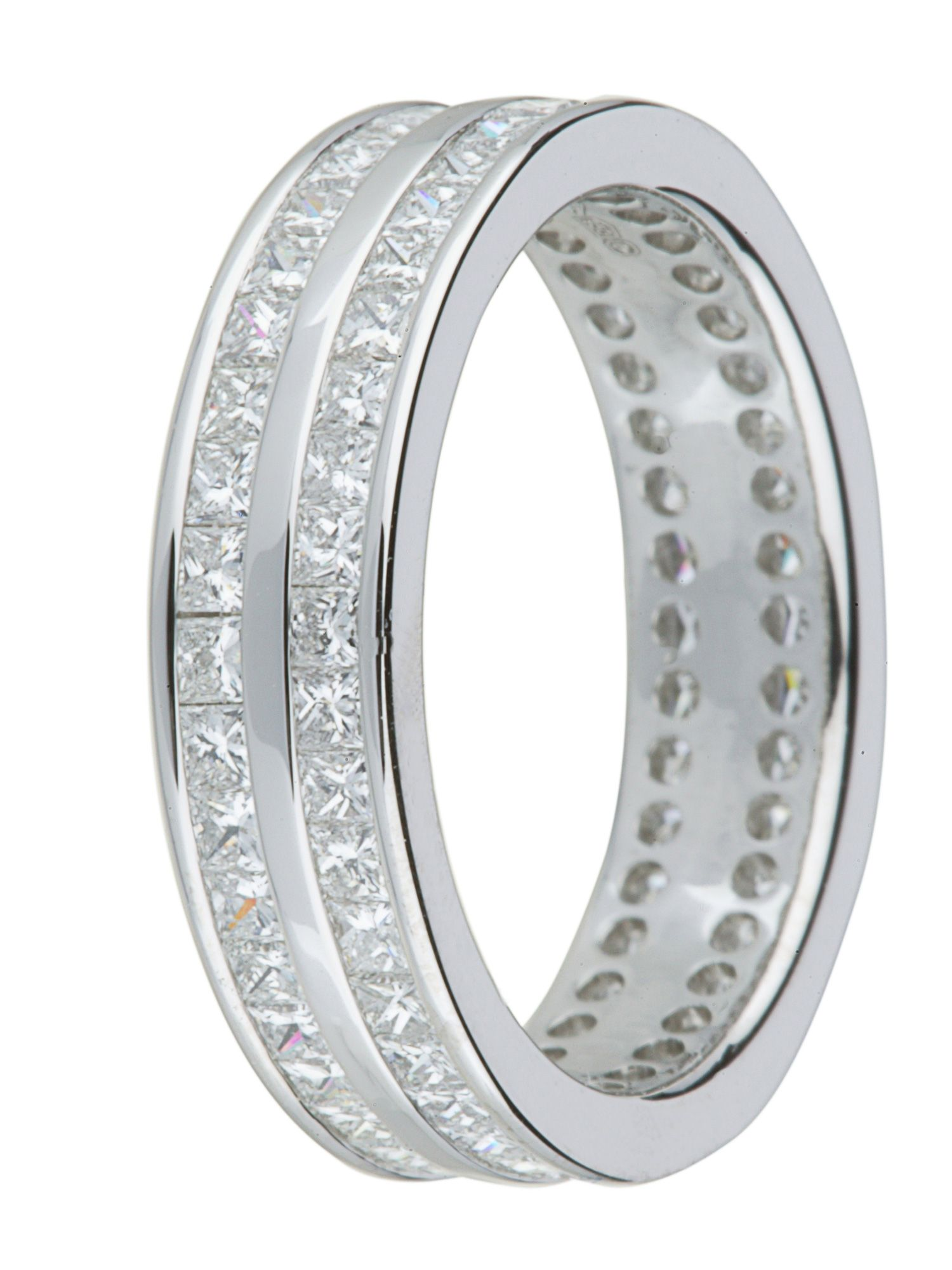 Brides platinum 2.00ct diamond wedding ring
