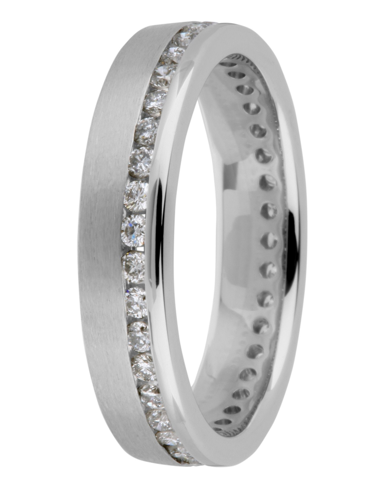 Goldsmiths Platinum 0.50ct diamond eternity ring, Silver