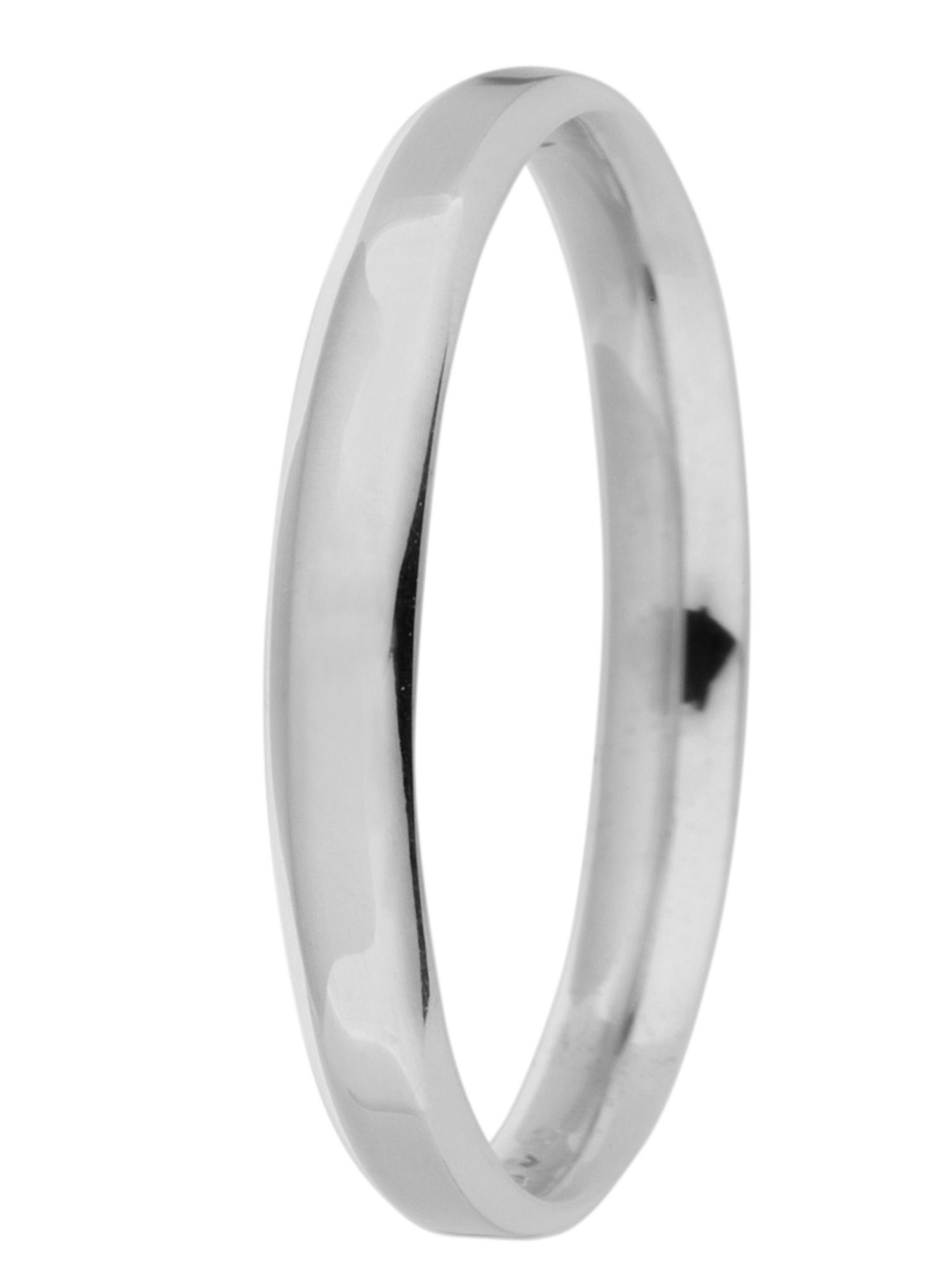 Brides platinum 2mm court wedding ring - Silver