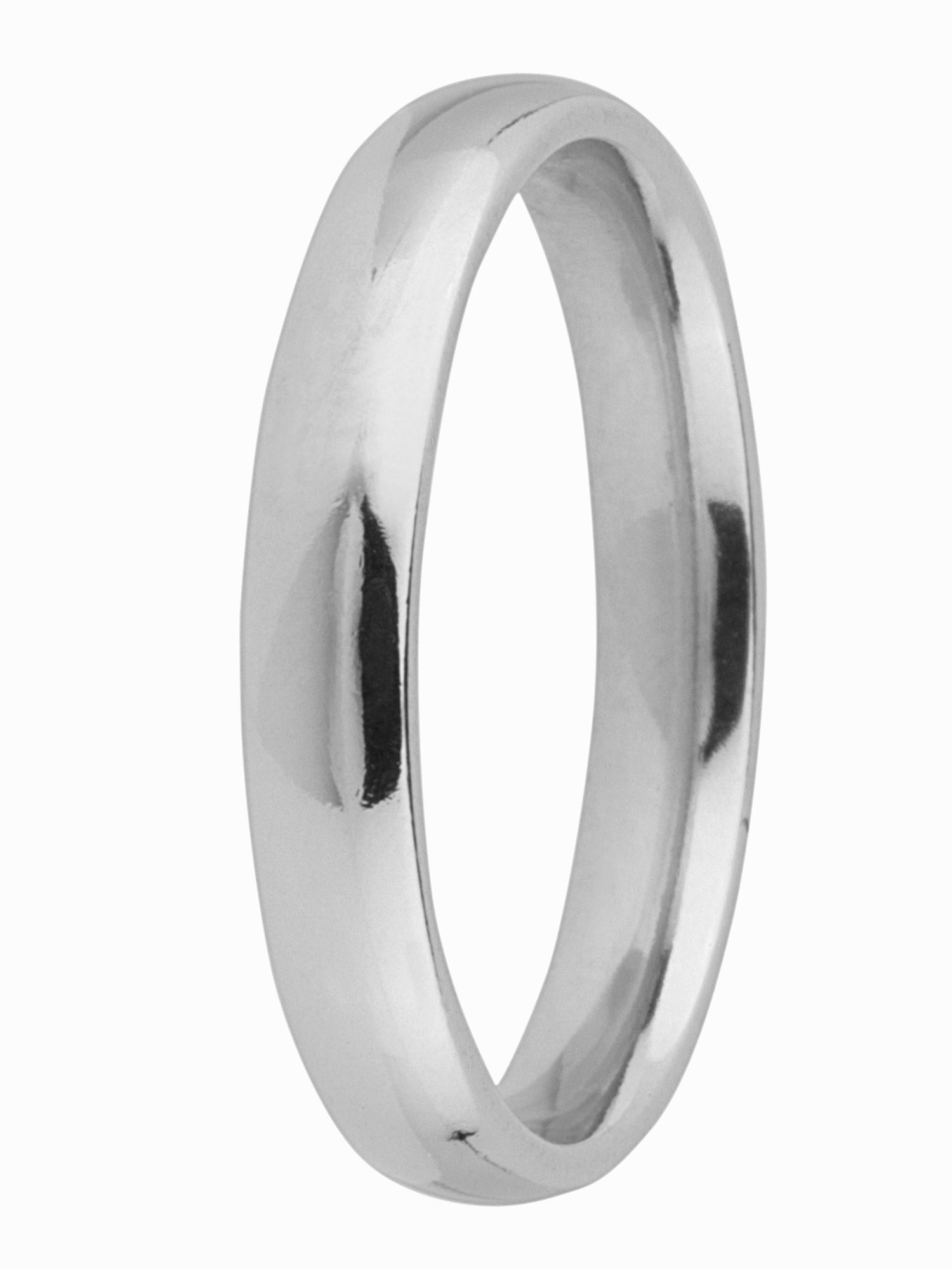 Brides platinum 3mm court wedding ring - Silver