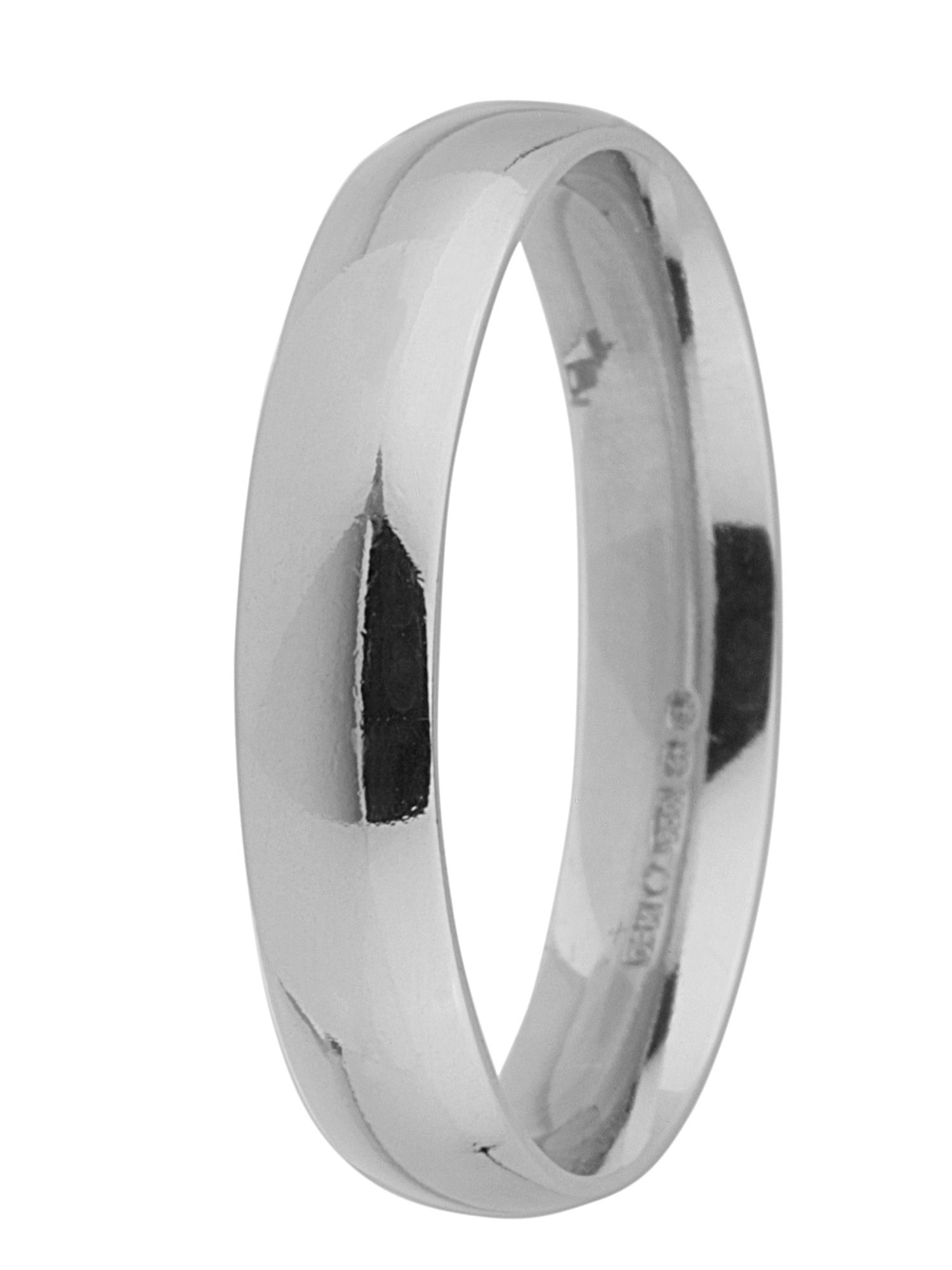 Brides platinum 4mm court wedding ring - Silver
