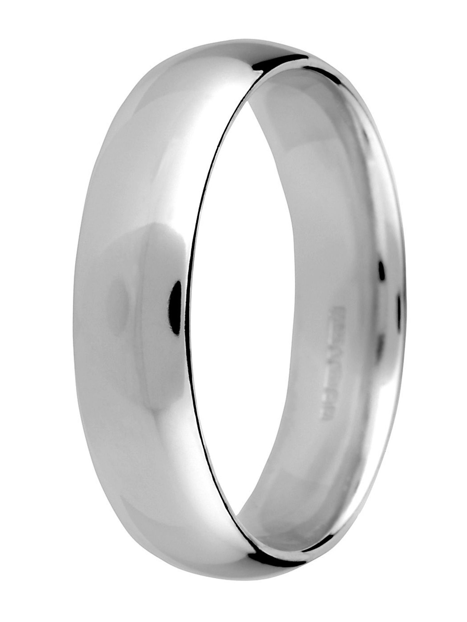 Brides platinum 5mm court wedding ring - Silver