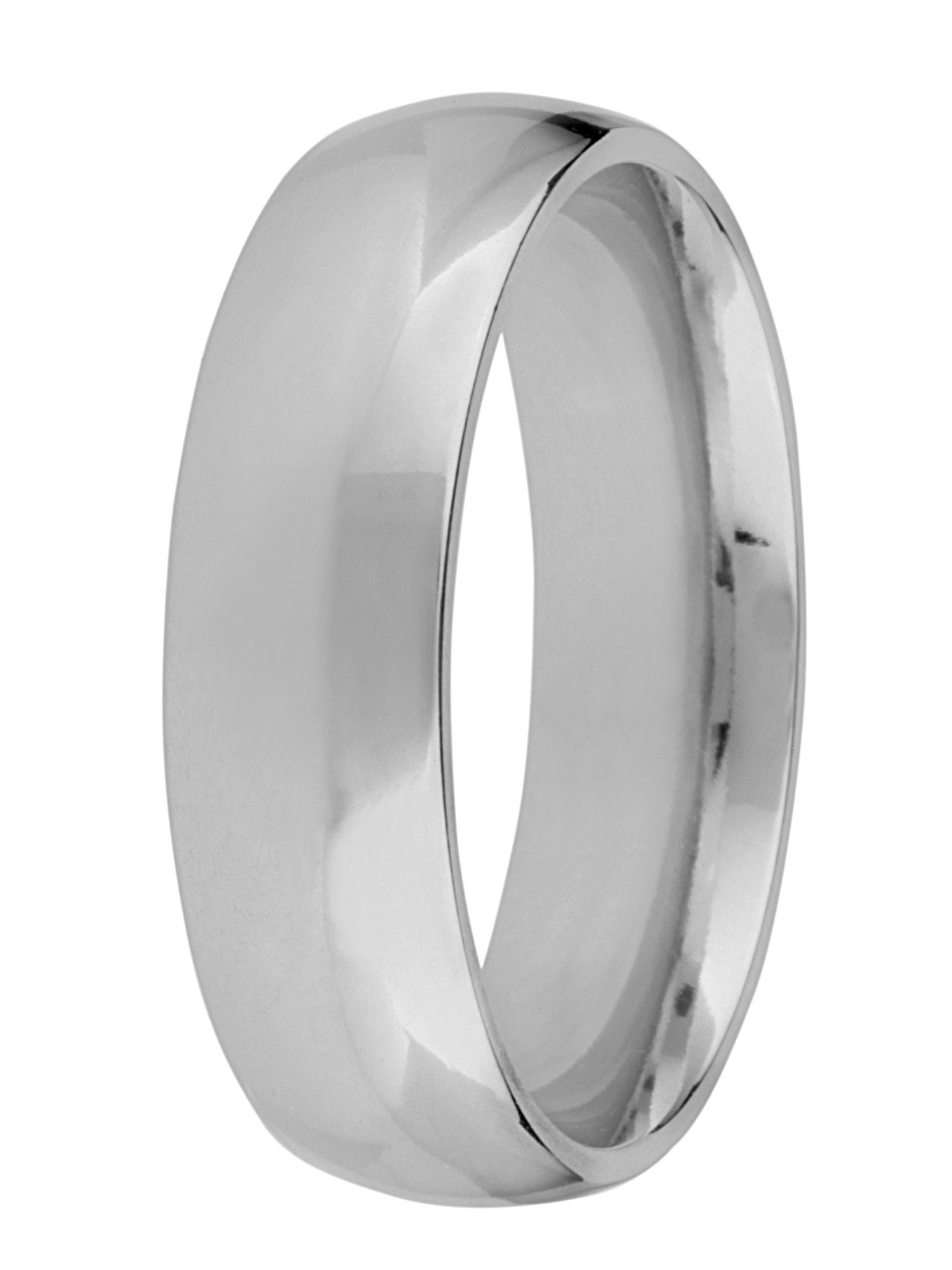 Grooms platinum 6mm court wedding ring - Silver