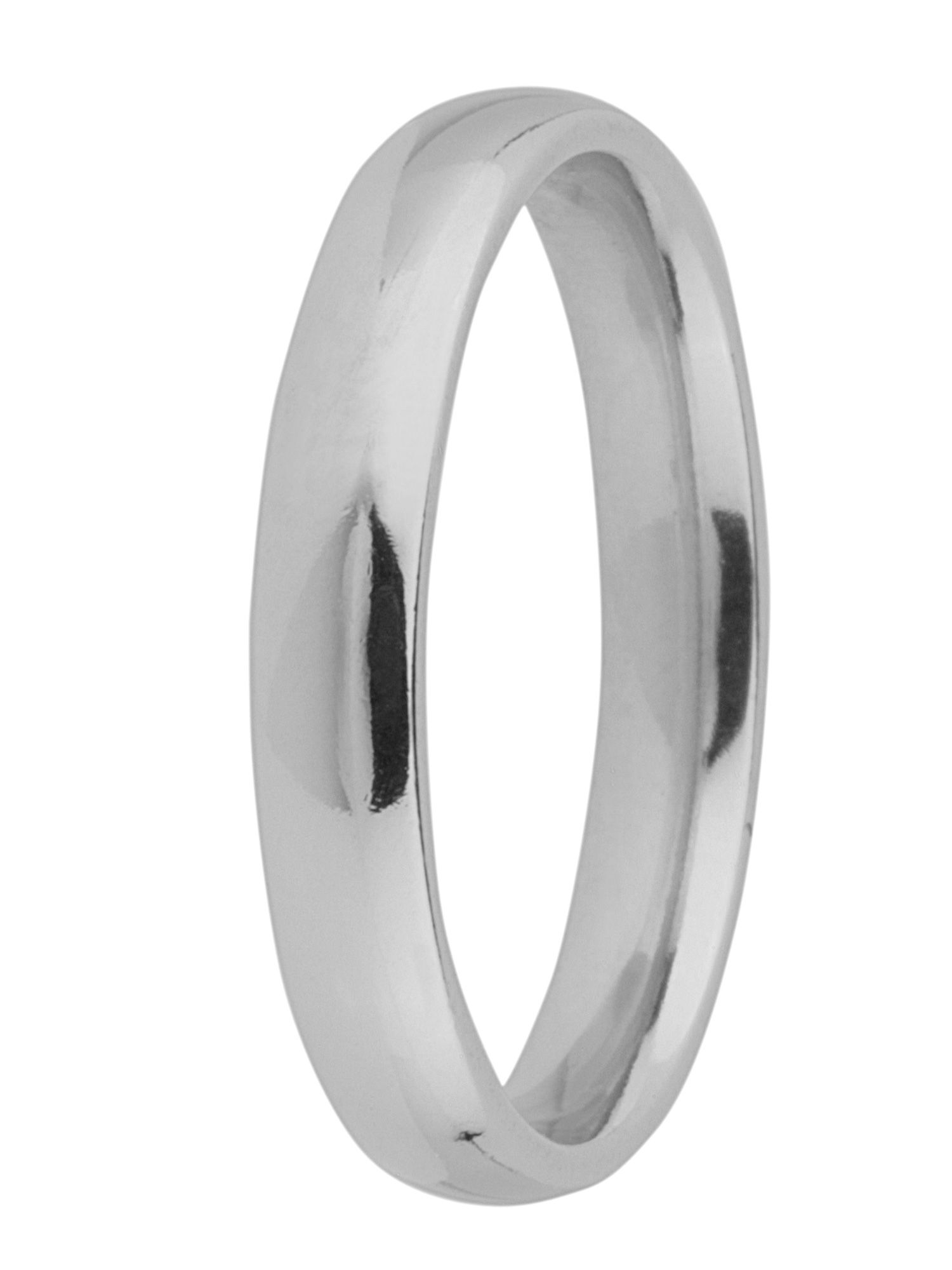 Brides platinum heavy court 3mm wedding ring - Silver