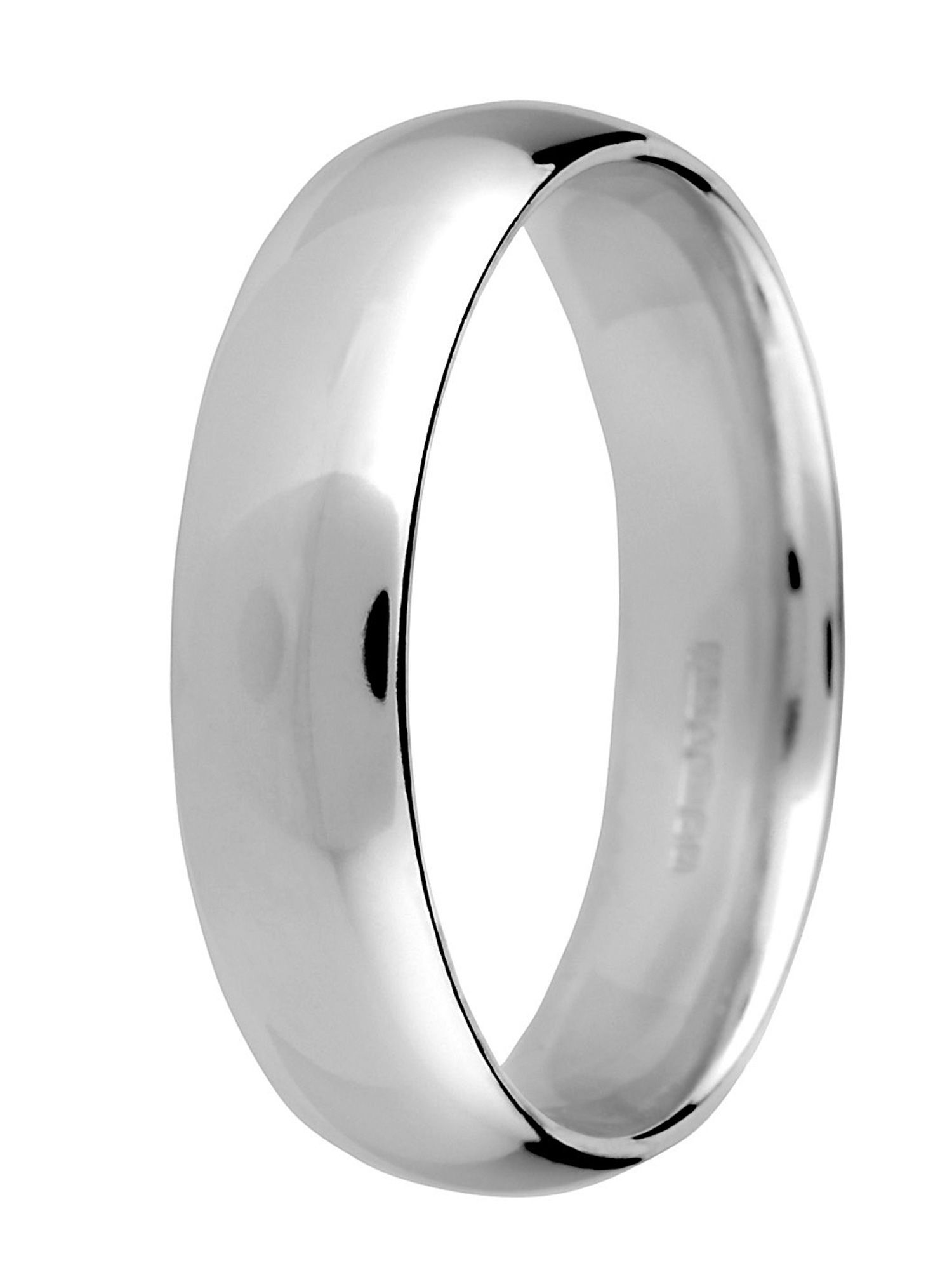 Goldsmiths Brides platinum heavy court 5mm wedding ring, Silver