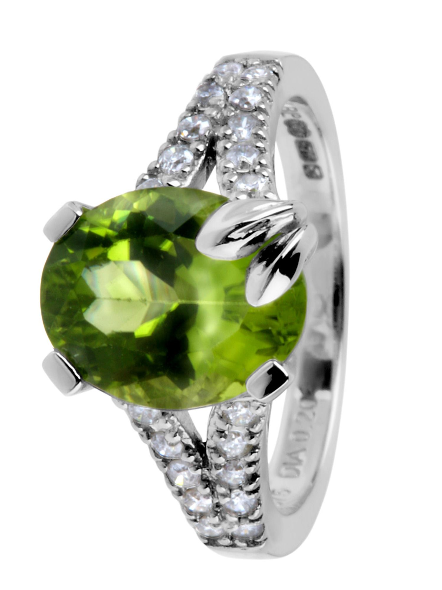 Coloured Collection 9ct white gold peridot and product image