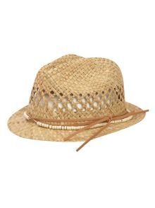Straw distressd trilby