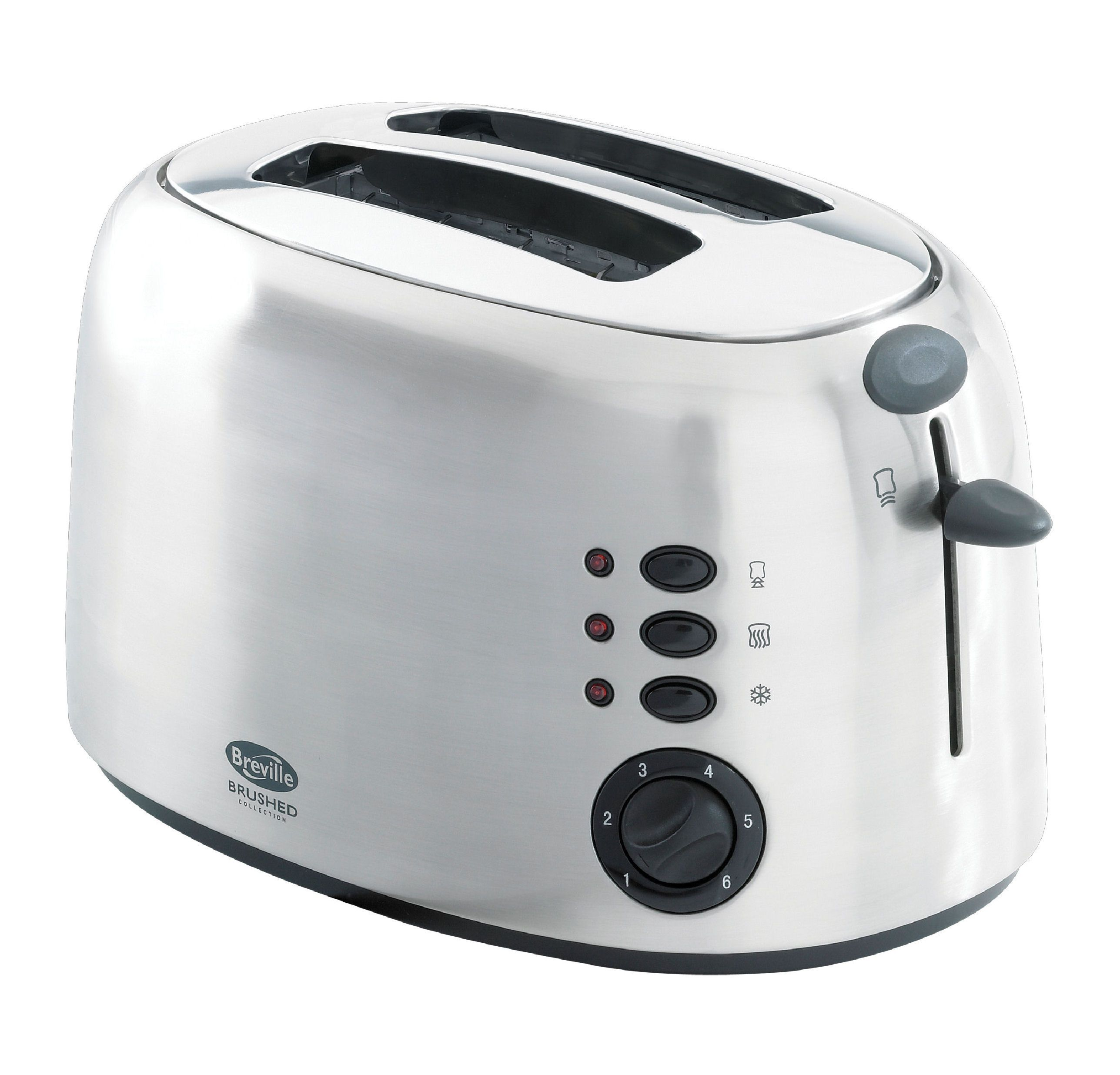 TT58 brushed 2 slice toaster