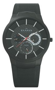 809XLTBB Active Black Titanium Mens Mesh Watch