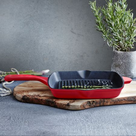 Linea Red 26cm grill pan